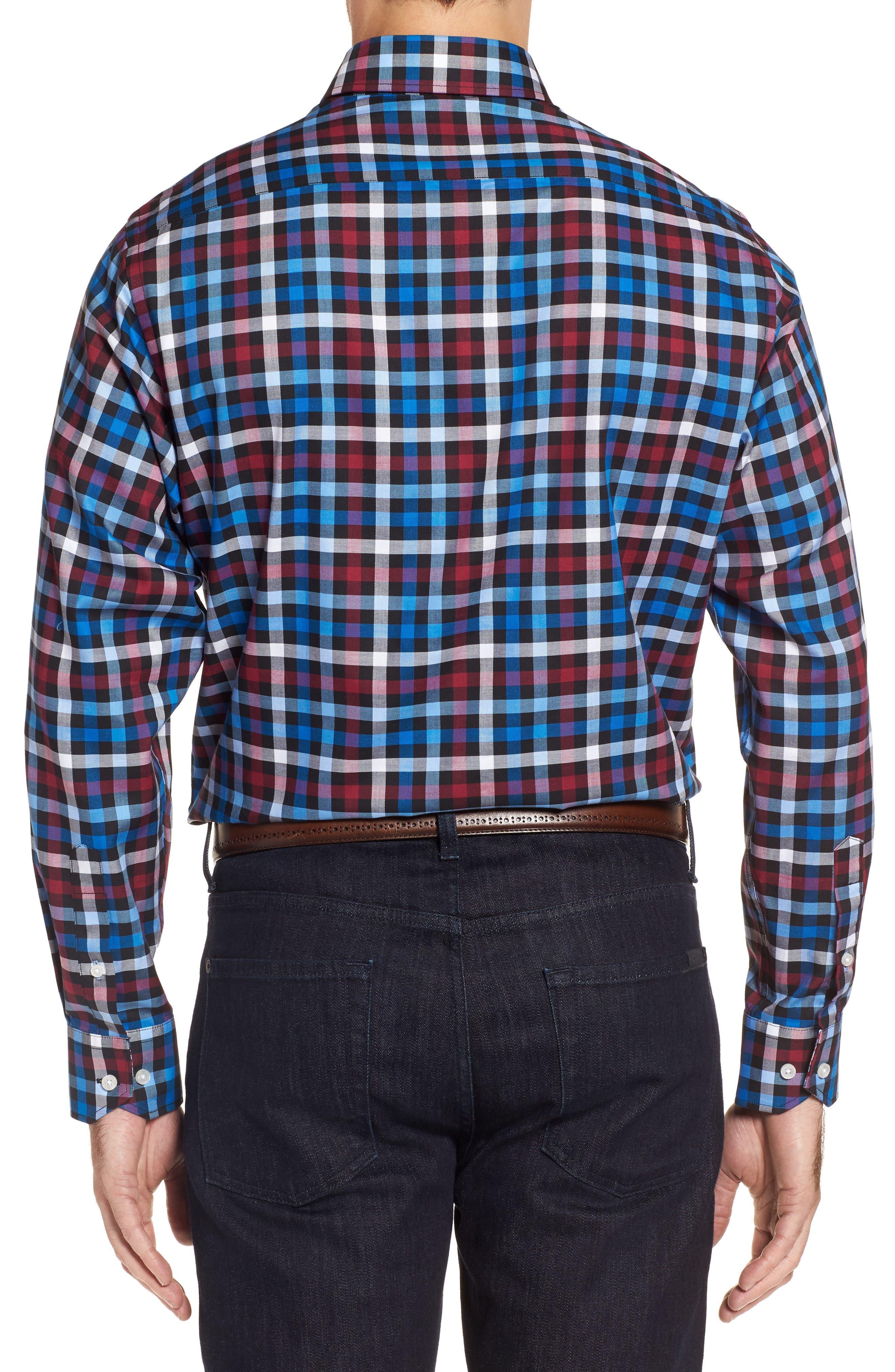Brusly Regular Fit Gingham Sport Shirt,                             Alternate thumbnail 2, color,                             Black
