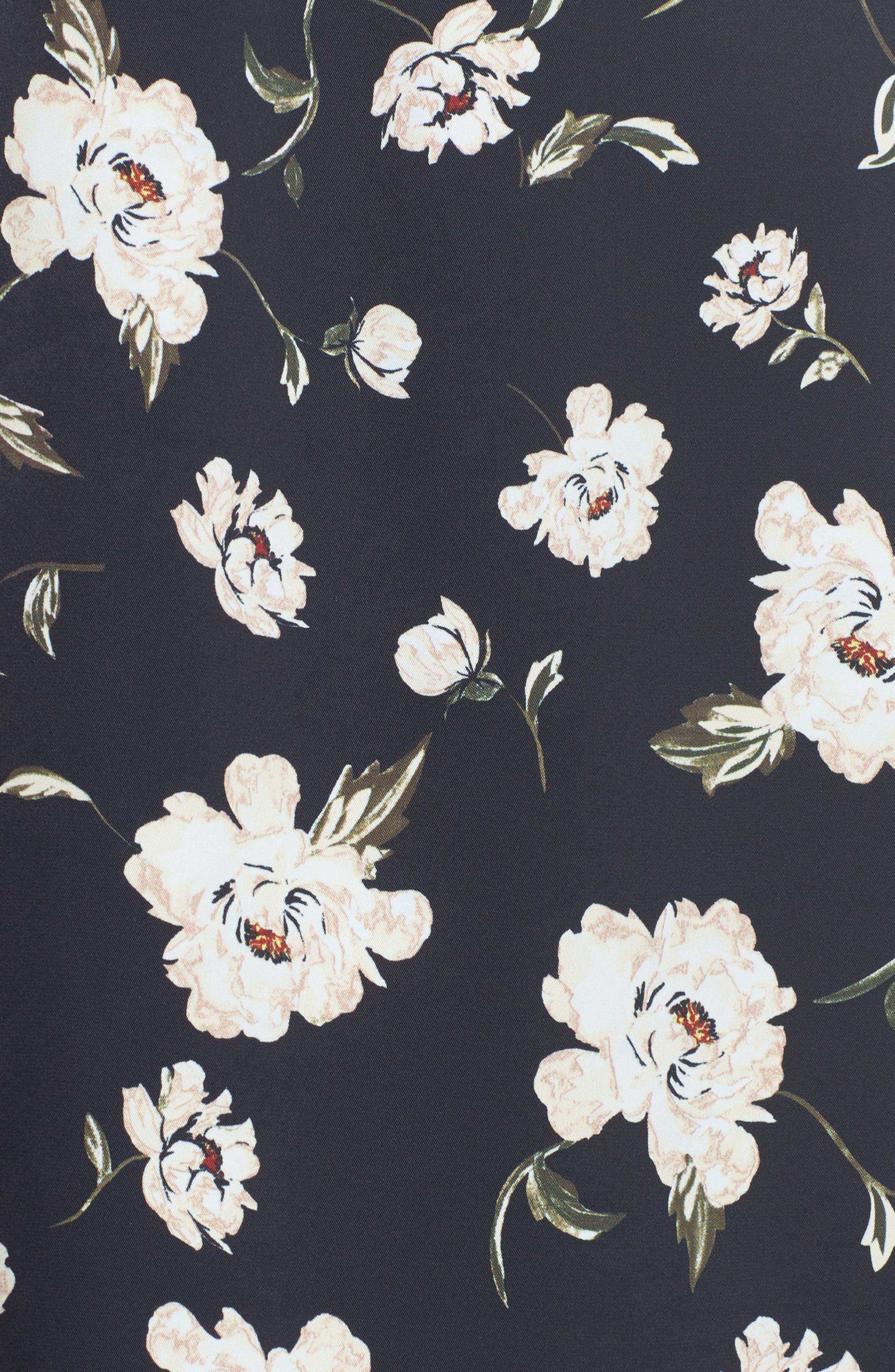L'Academie The Shirt Dress Midi Dress,                             Alternate thumbnail 5, color,                             Romantic Floral