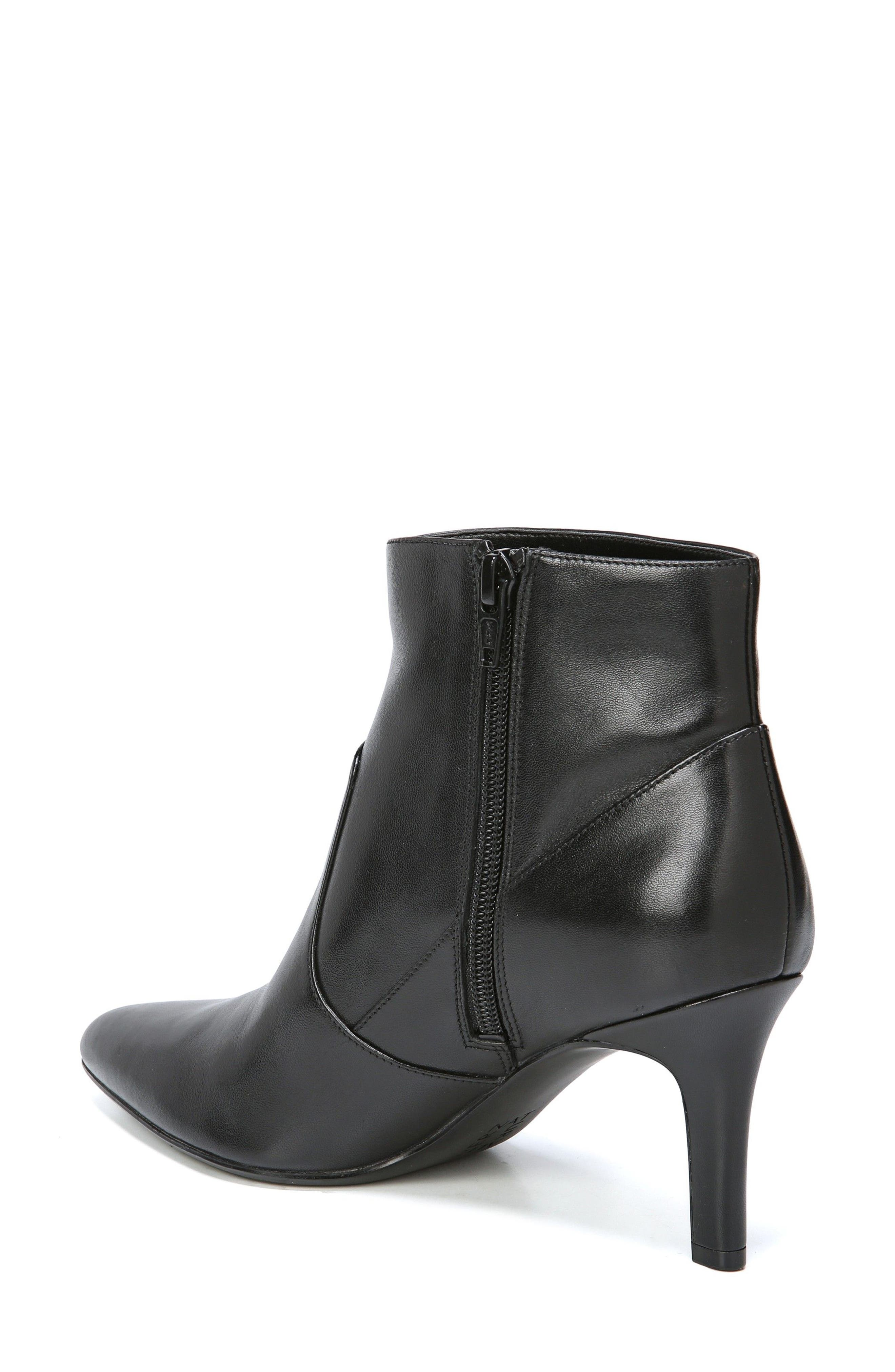 Nadine Bootie,                             Alternate thumbnail 2, color,                             Black Leather