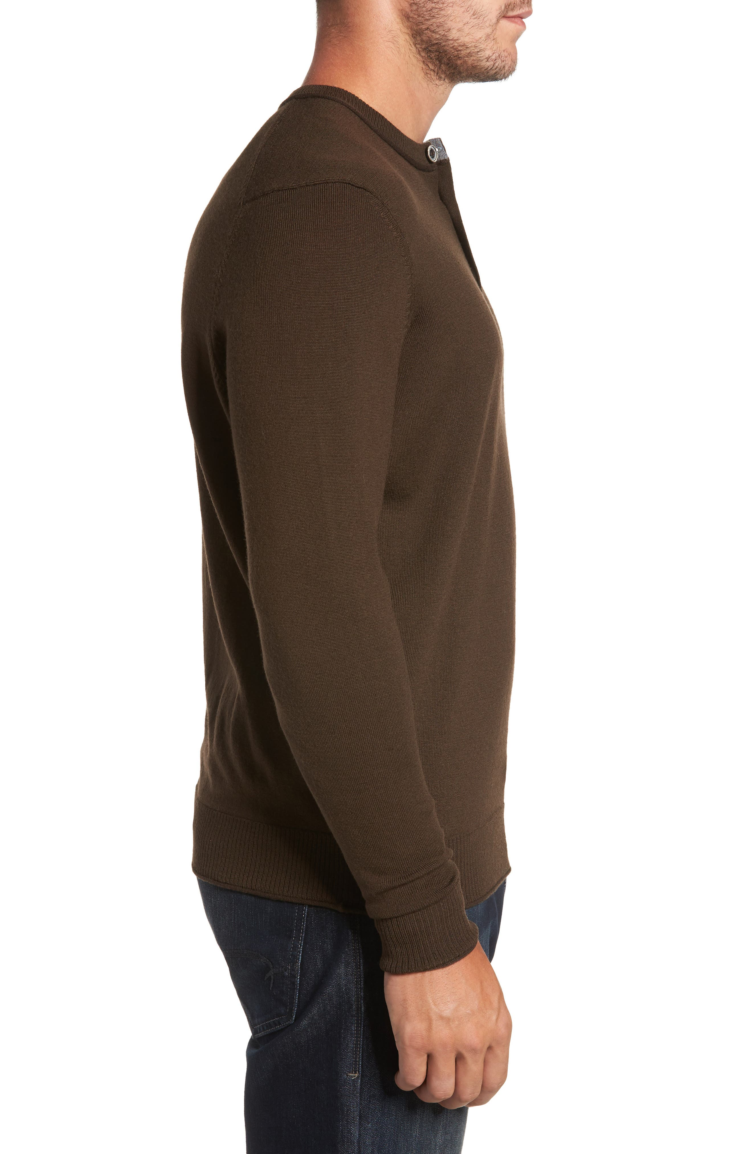 Alternate Image 3  - Thomas Dean Merino Blend Henley