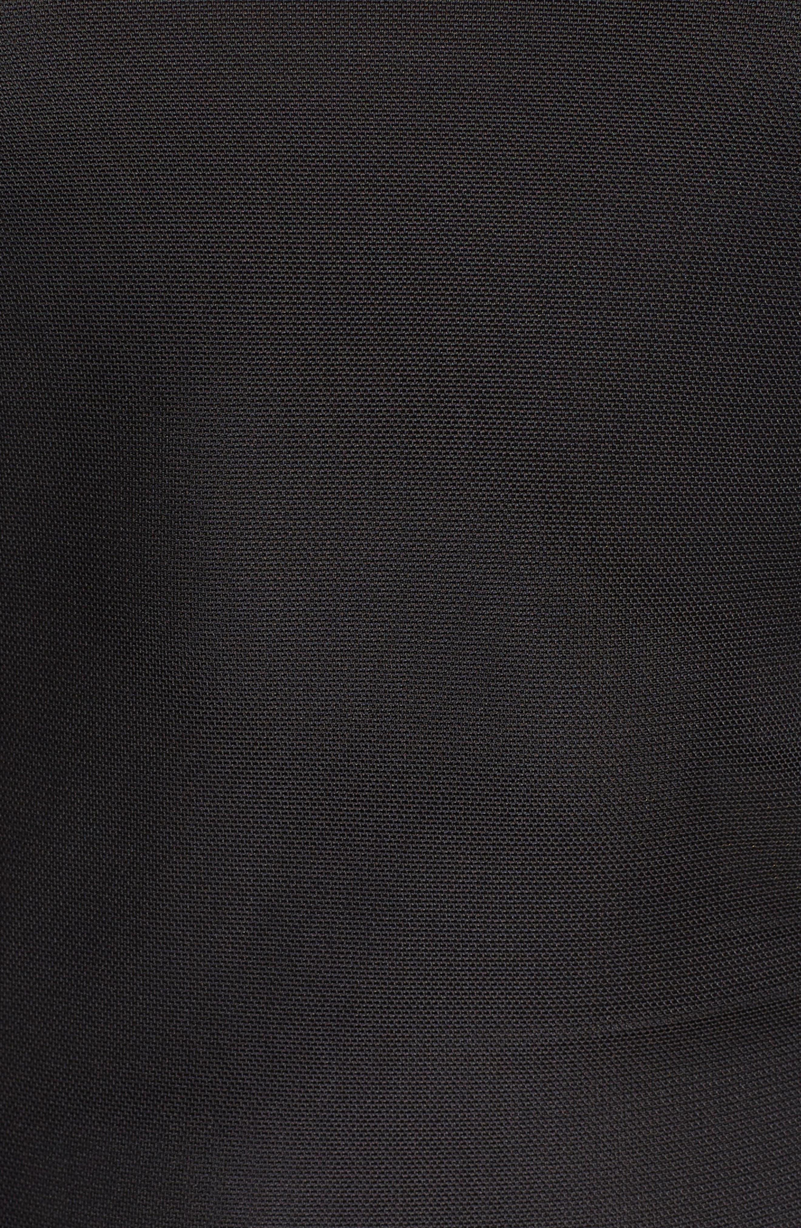 Mesh Layering Tee,                             Alternate thumbnail 5, color,                             Black