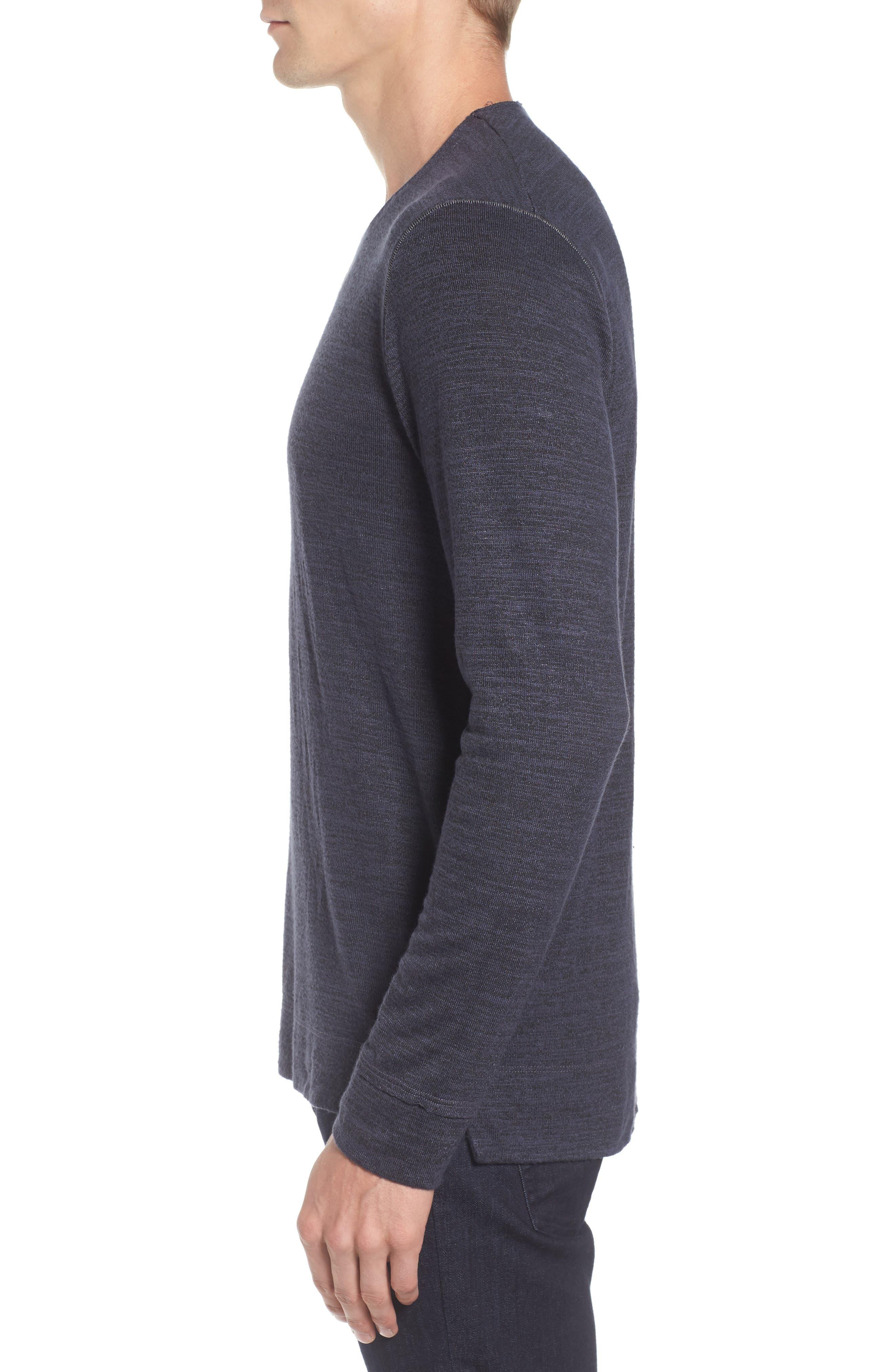 Modern Trim Marled Long Sleeve T-Shirt,                             Alternate thumbnail 3, color,                             Patrol
