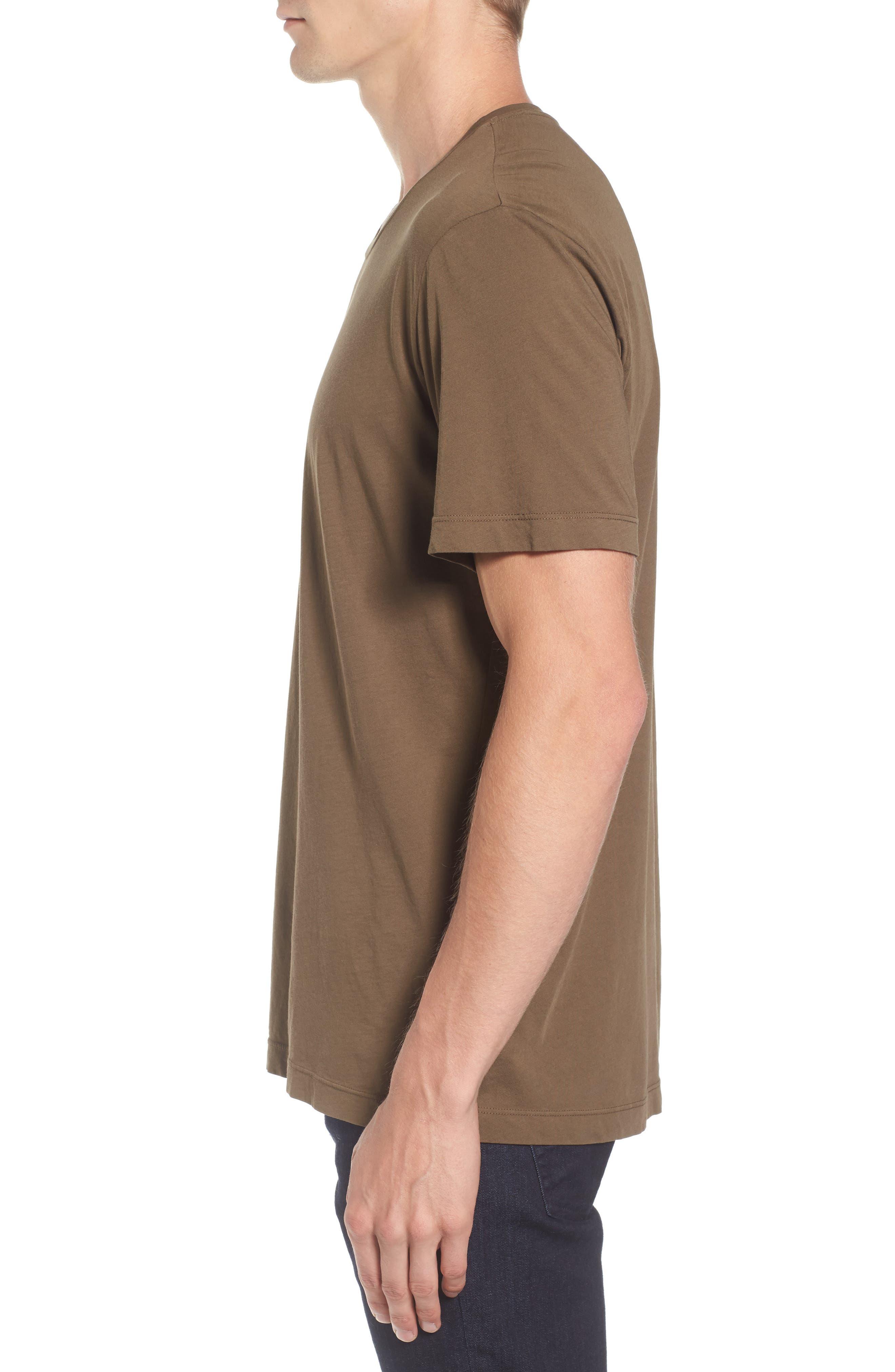 'Howard' Crewneck T-Shirt,                             Alternate thumbnail 3, color,                             Conifer