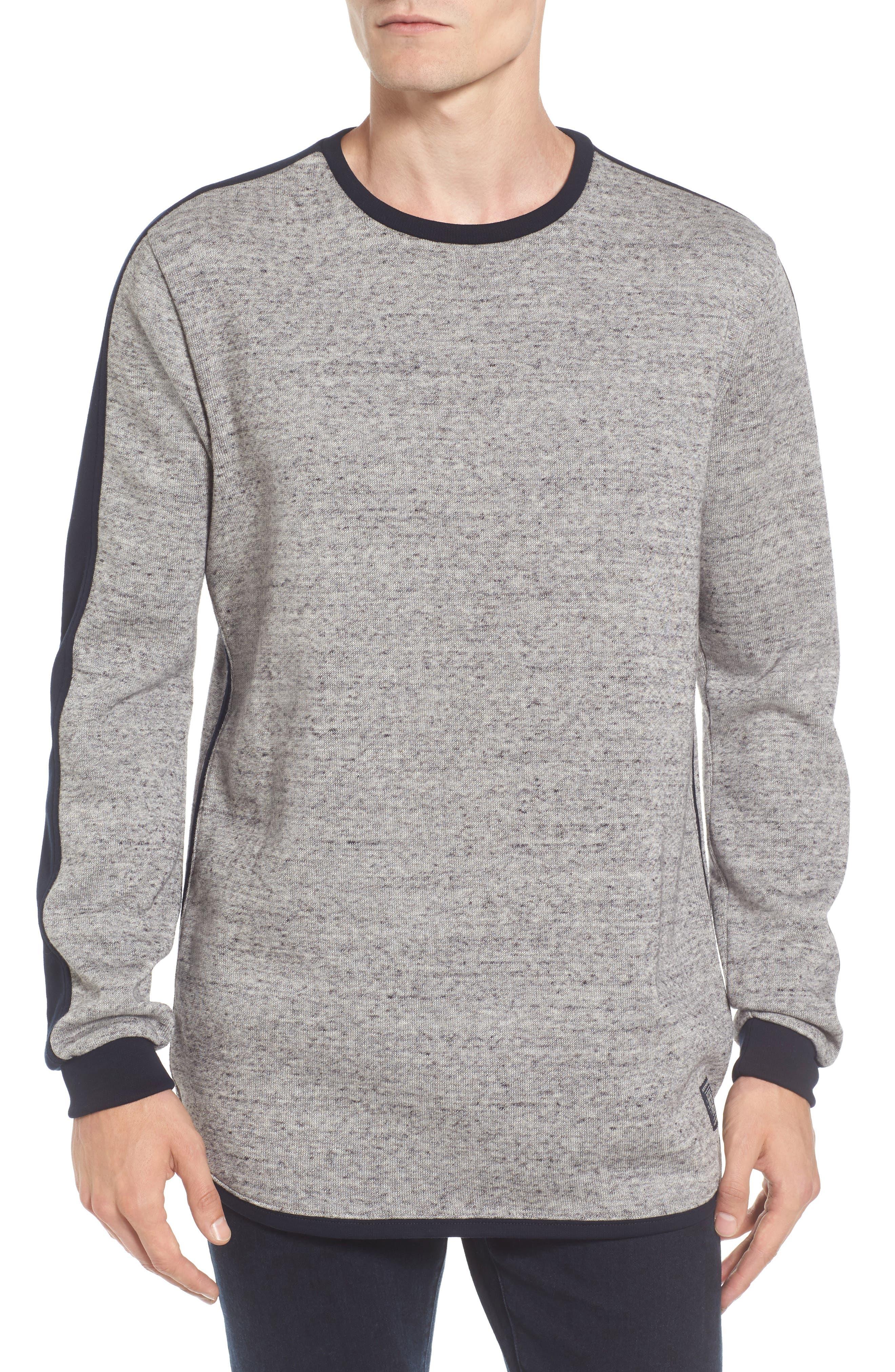 Panel Sweatshirt,                         Main,                         color, Grey