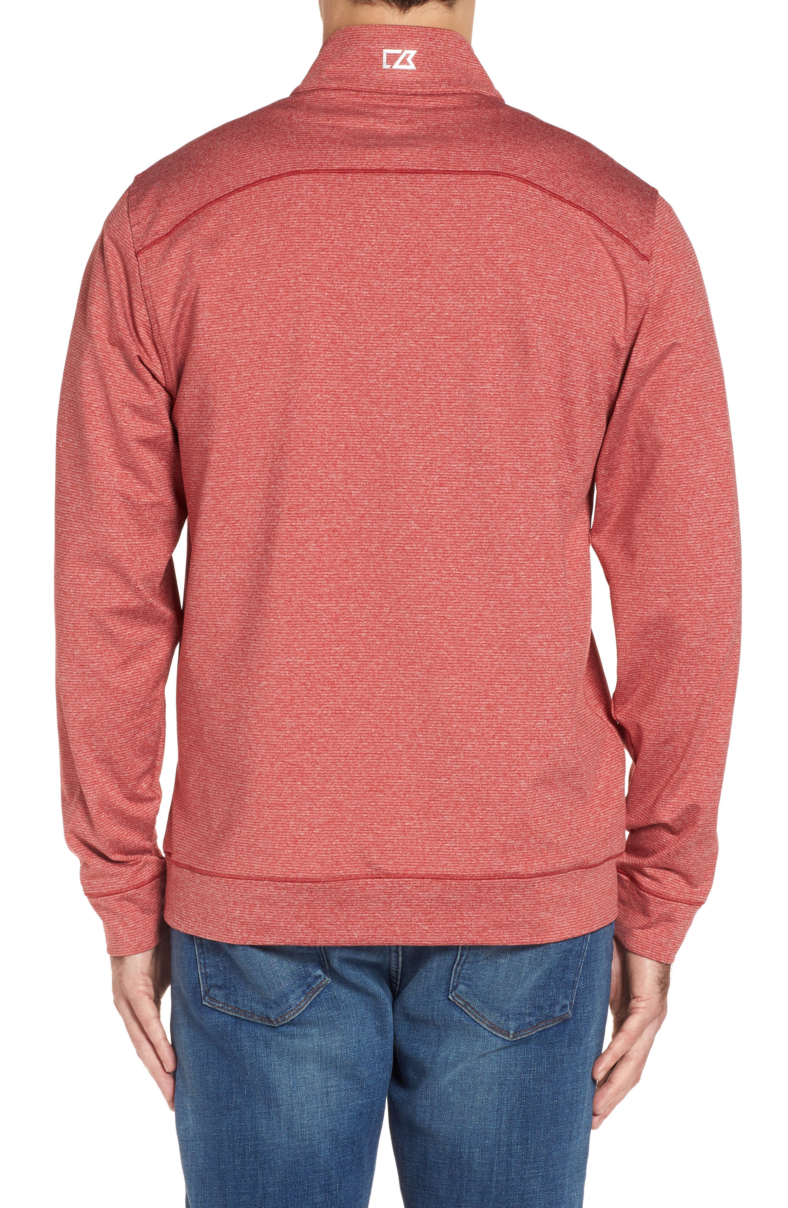 Shoreline - San Francisco 49ers Half Zip Pullover,                             Alternate thumbnail 2, color,                             Cardinal Red Heather