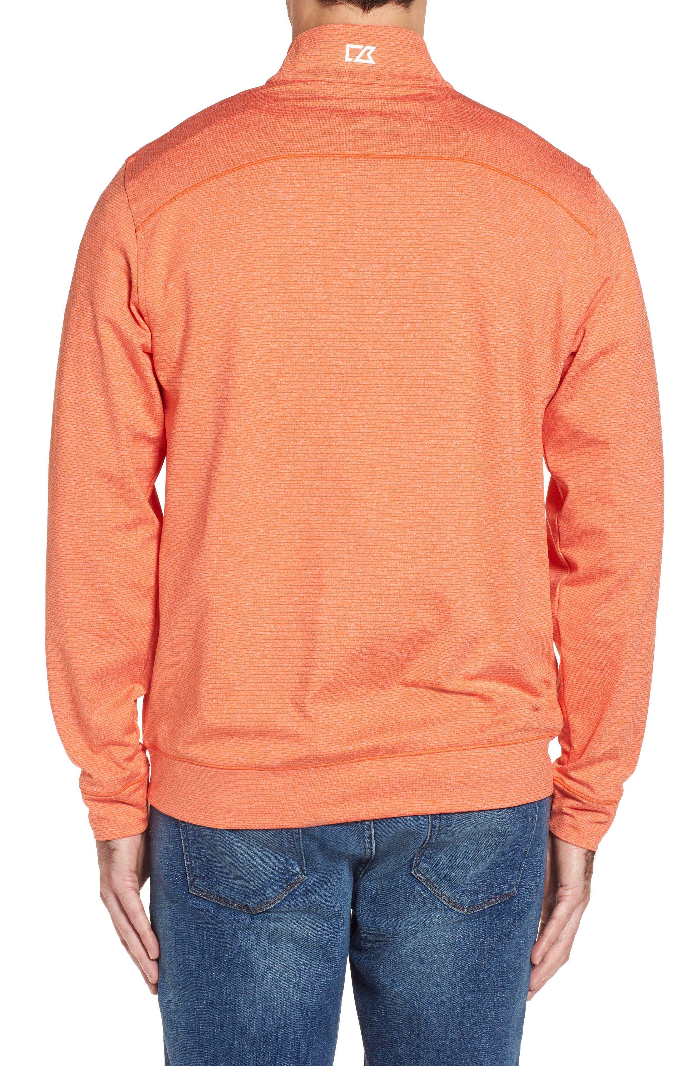 Shoreline - Denver Broncos Half Zip Pullover,                             Alternate thumbnail 2, color,                             College Orange Heather