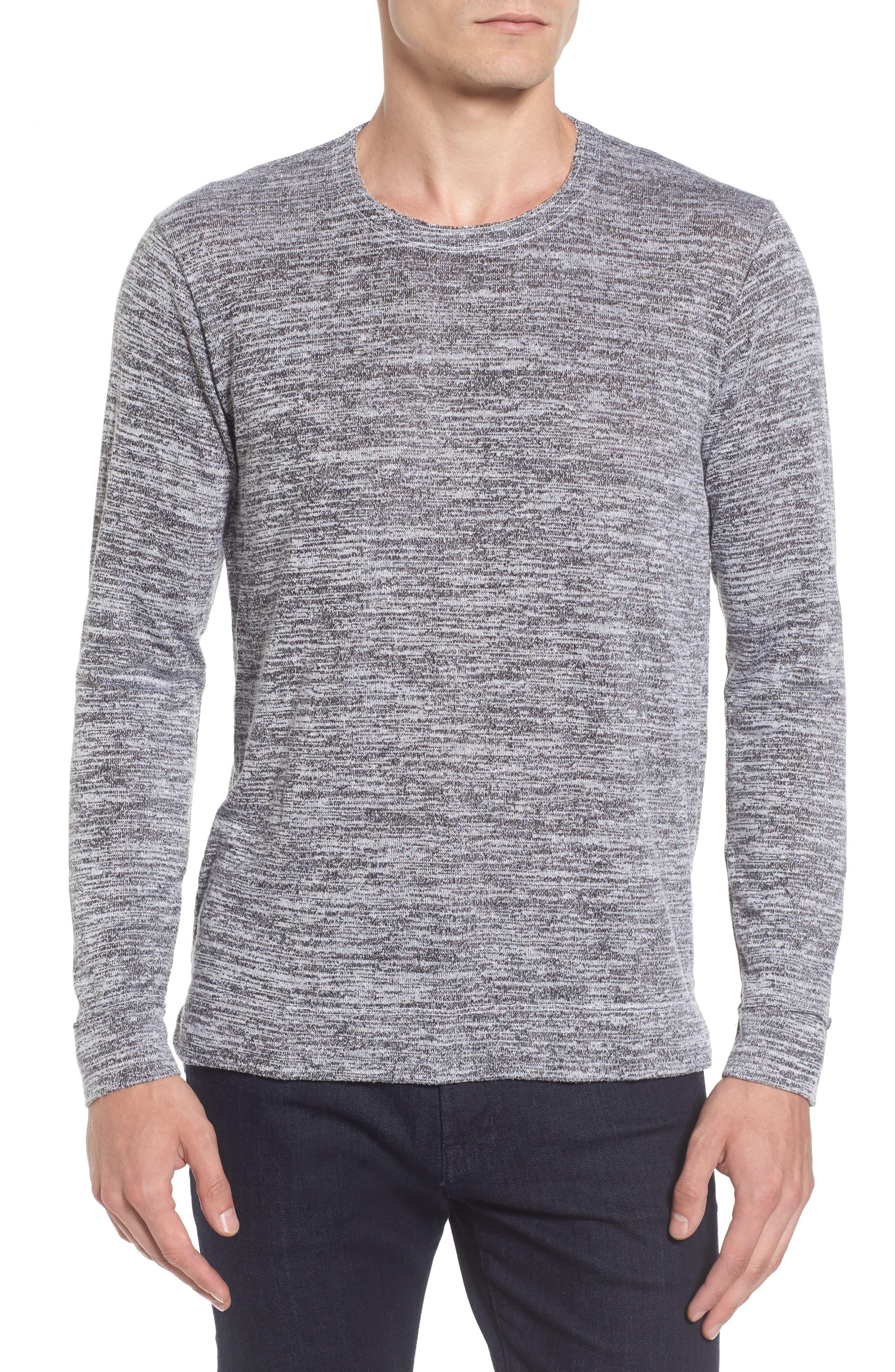 Main Image - Velvet by Graham & Spencer Modern Trim Marled Long Sleeve T-Shirt