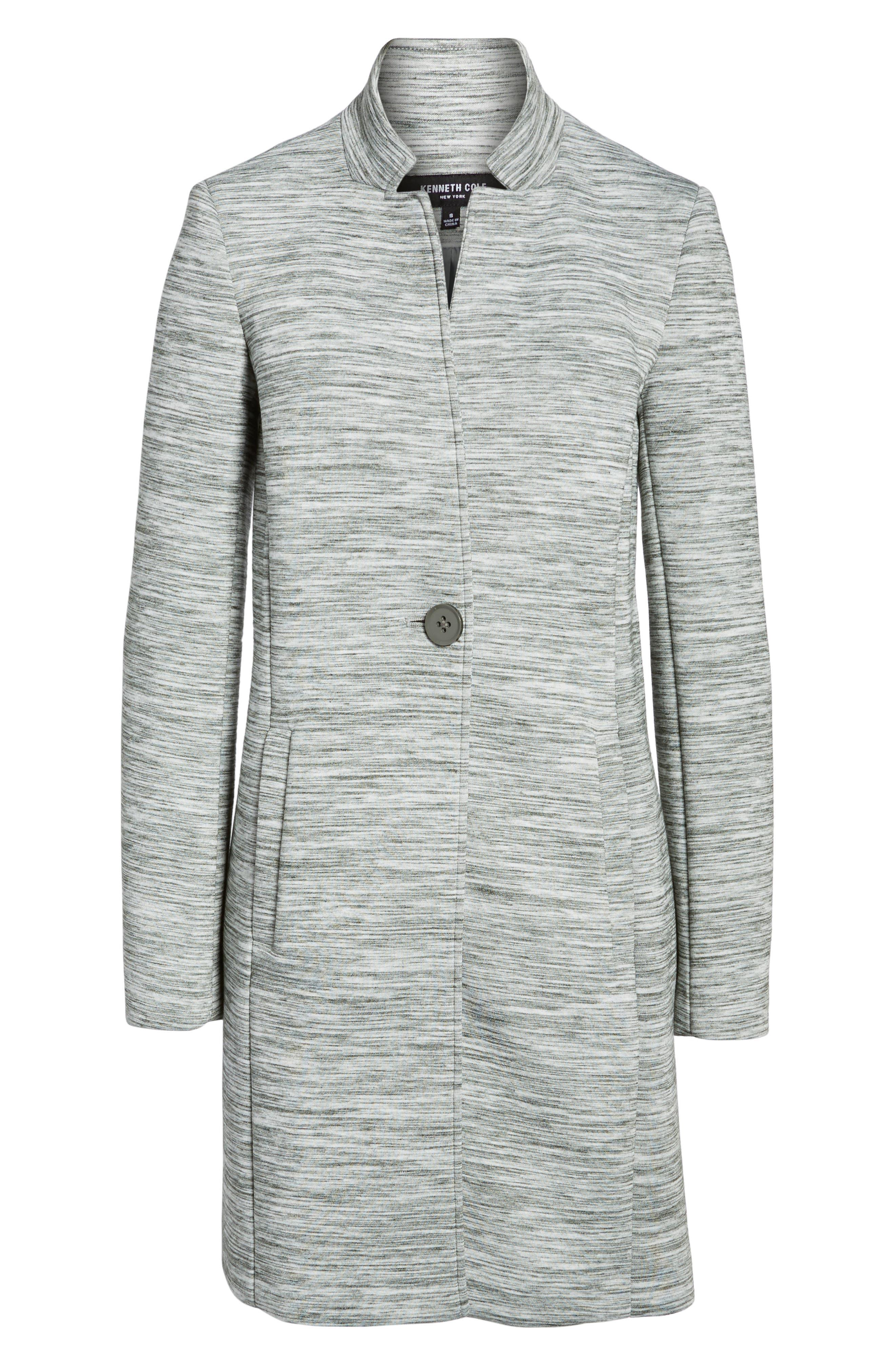 Knit Coat,                             Alternate thumbnail 6, color,                             Light Grey