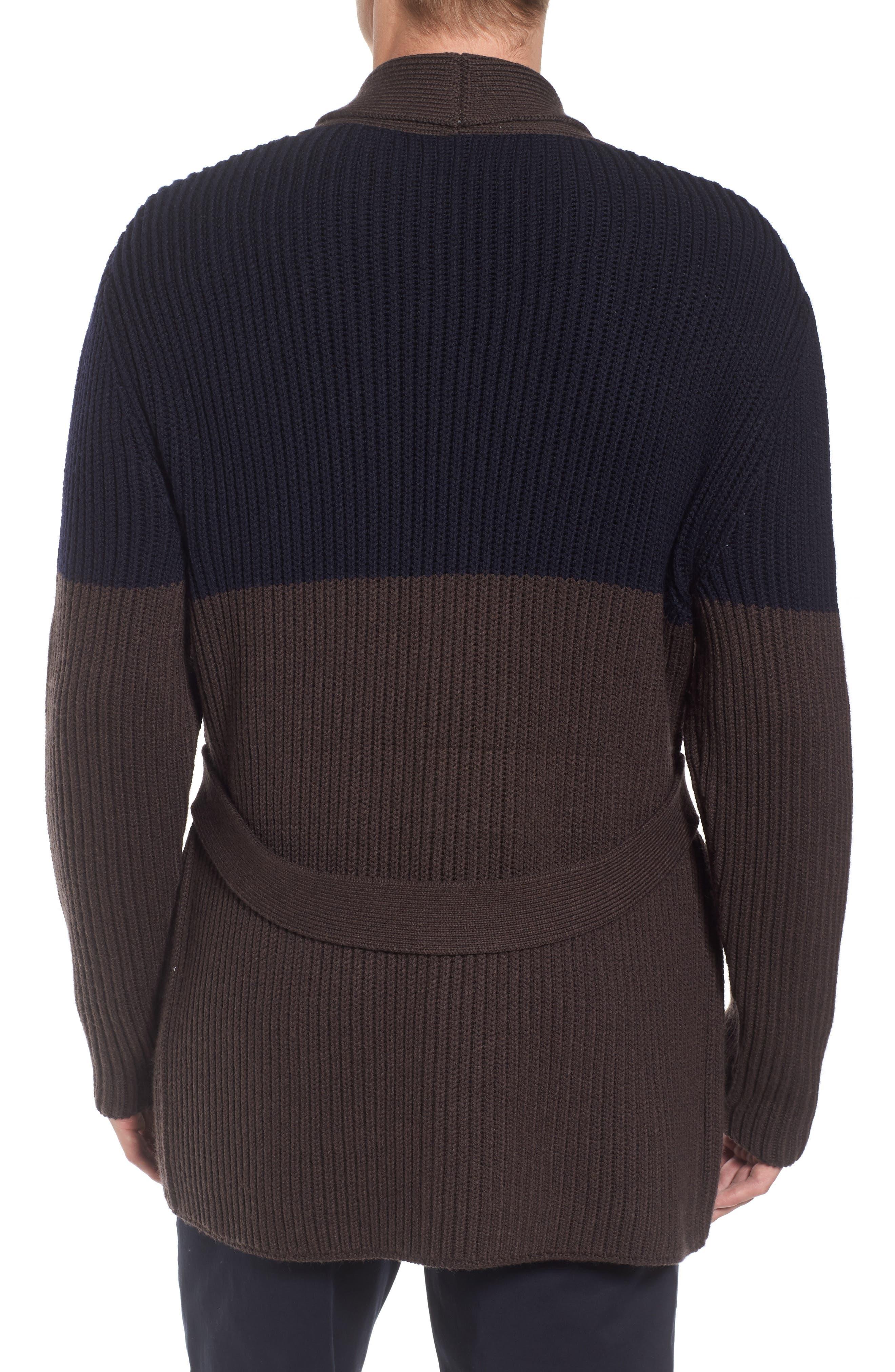 Alternate Image 2  - Eleventy Colorblock Wool Wrap Sweater