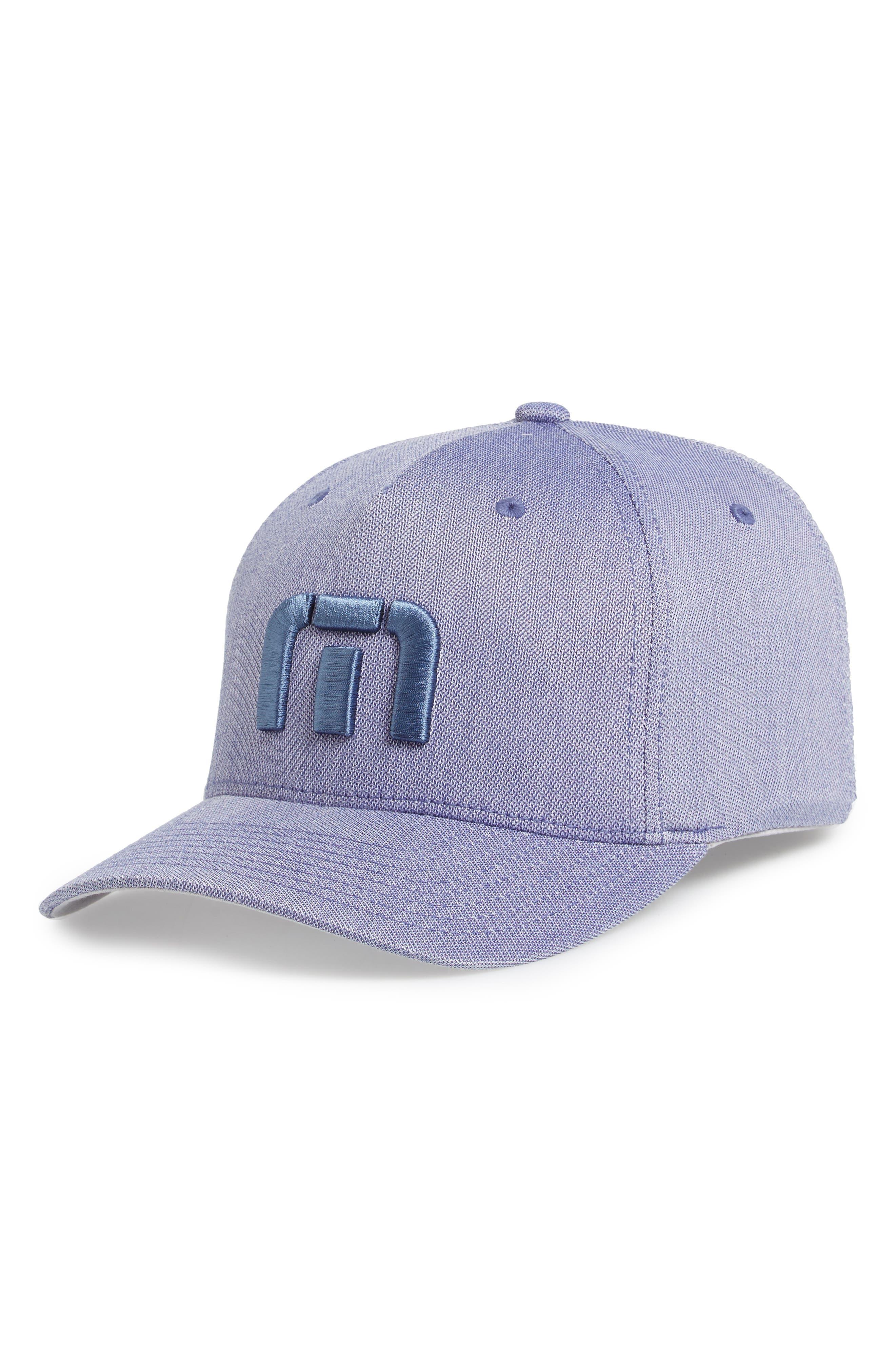 Van Dyke Flex Fit Baseball Cap,                             Main thumbnail 1, color,                             Heather Blue
