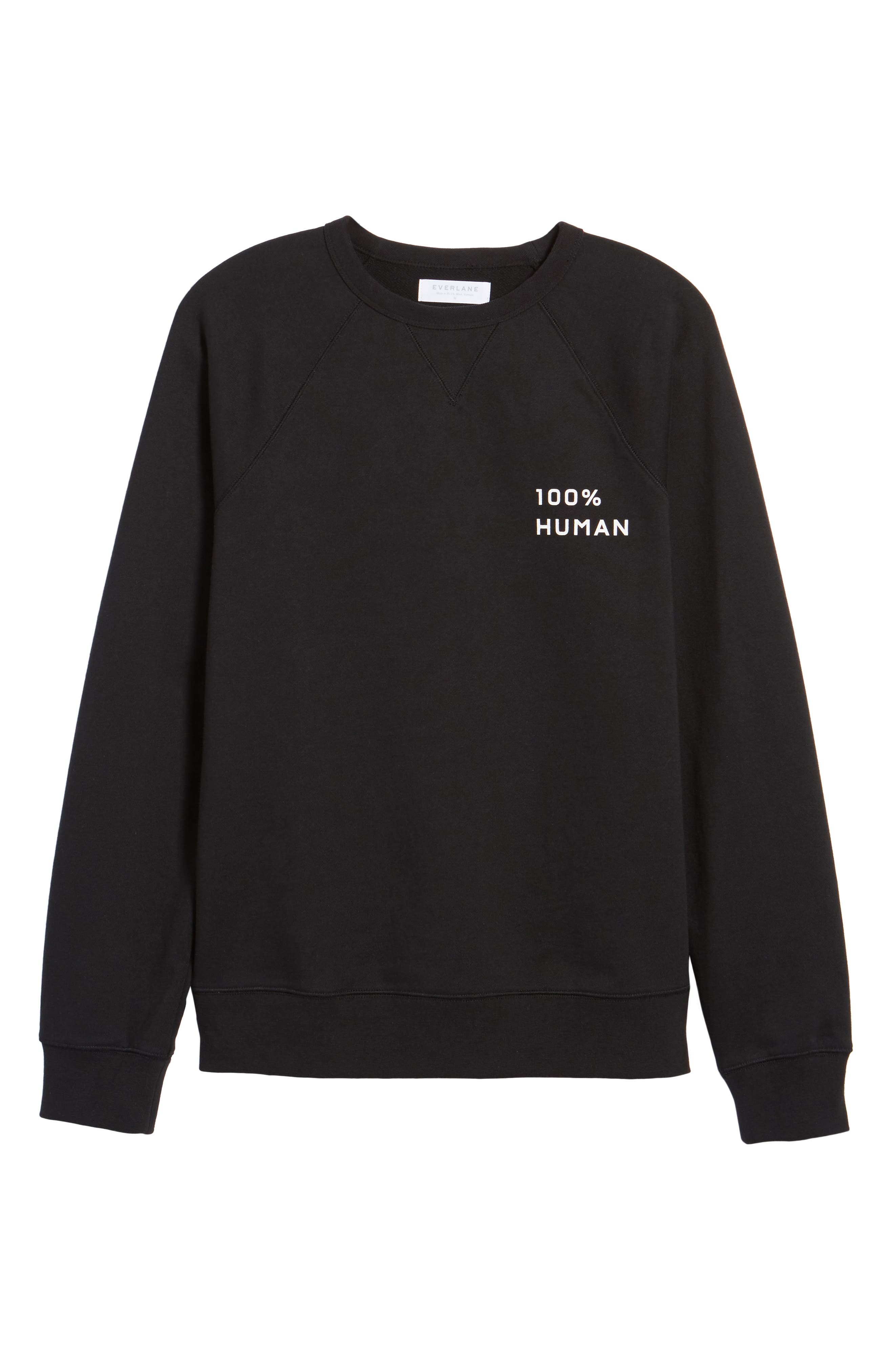 Alternate Image 5  - Everlane The 100% Human Small Print Unisex French Terry Sweatshirt