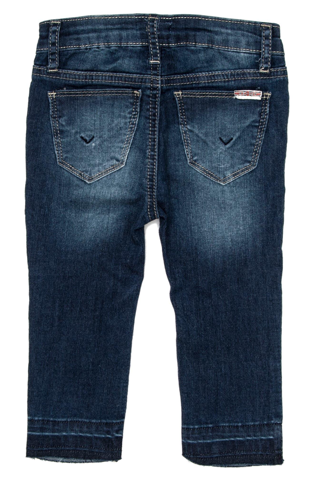 Alternate Image 2  - Hudson Kids Christa Super Stretch Skinny Jeans (Baby Girls)