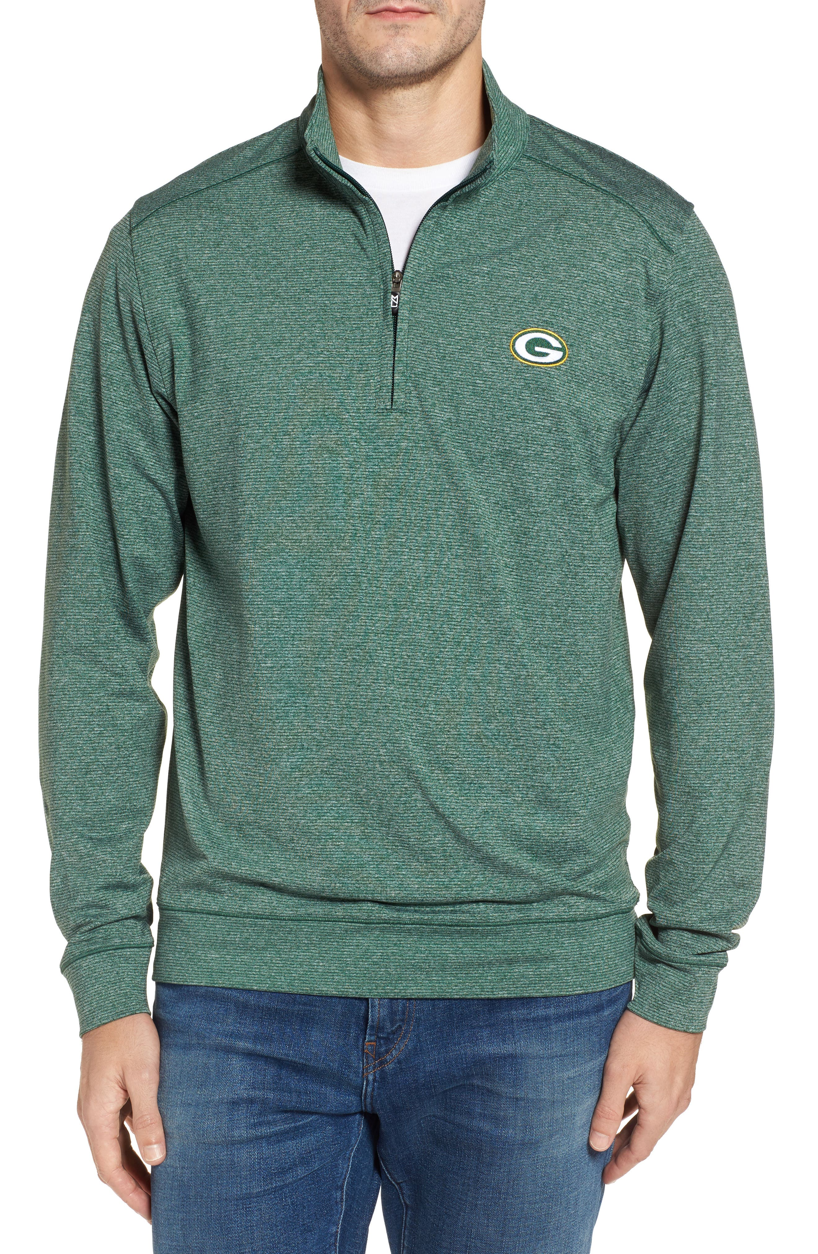 Main Image - Cutter & Buck Shoreline - Green Bay Packers Half Zip Pullover