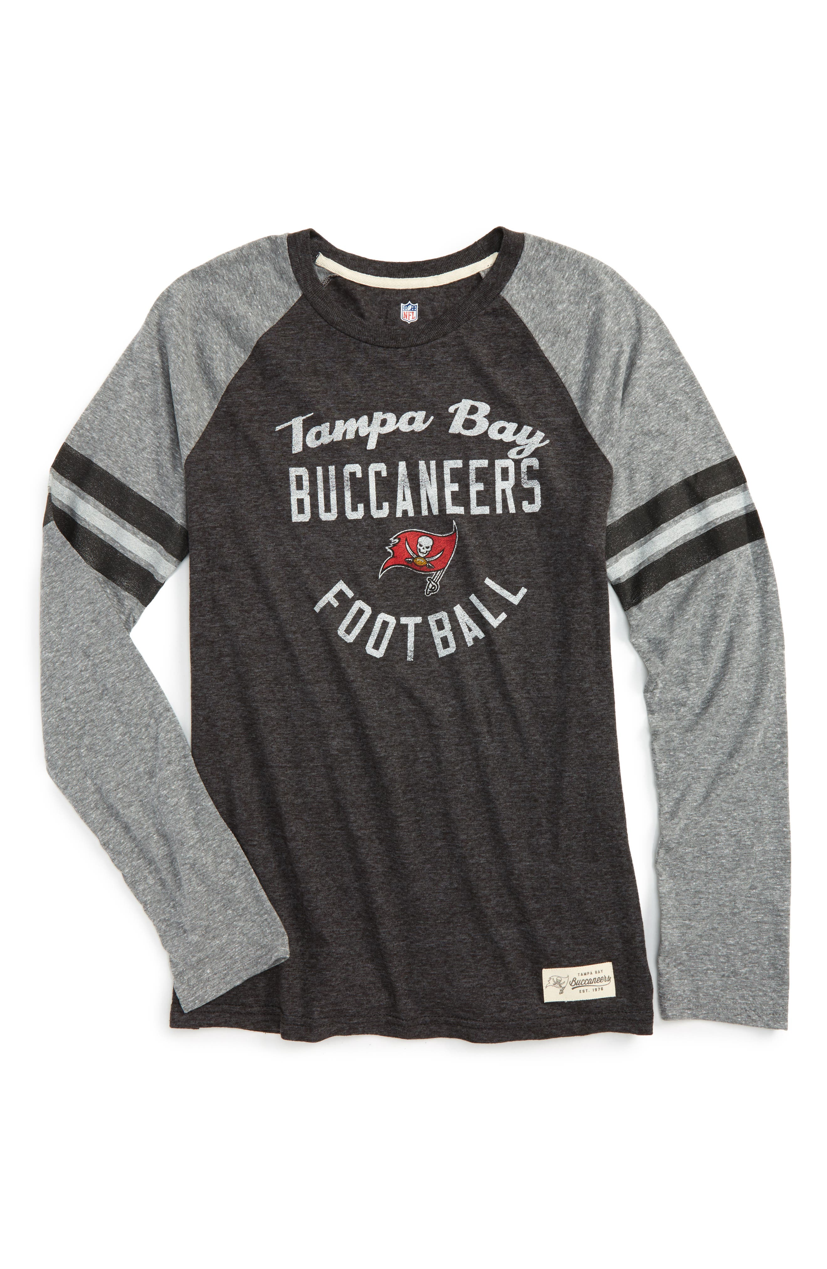 NFL Tampa Bay Buccaneers Distressed Logo T-Shirt,                         Main,                         color, Red