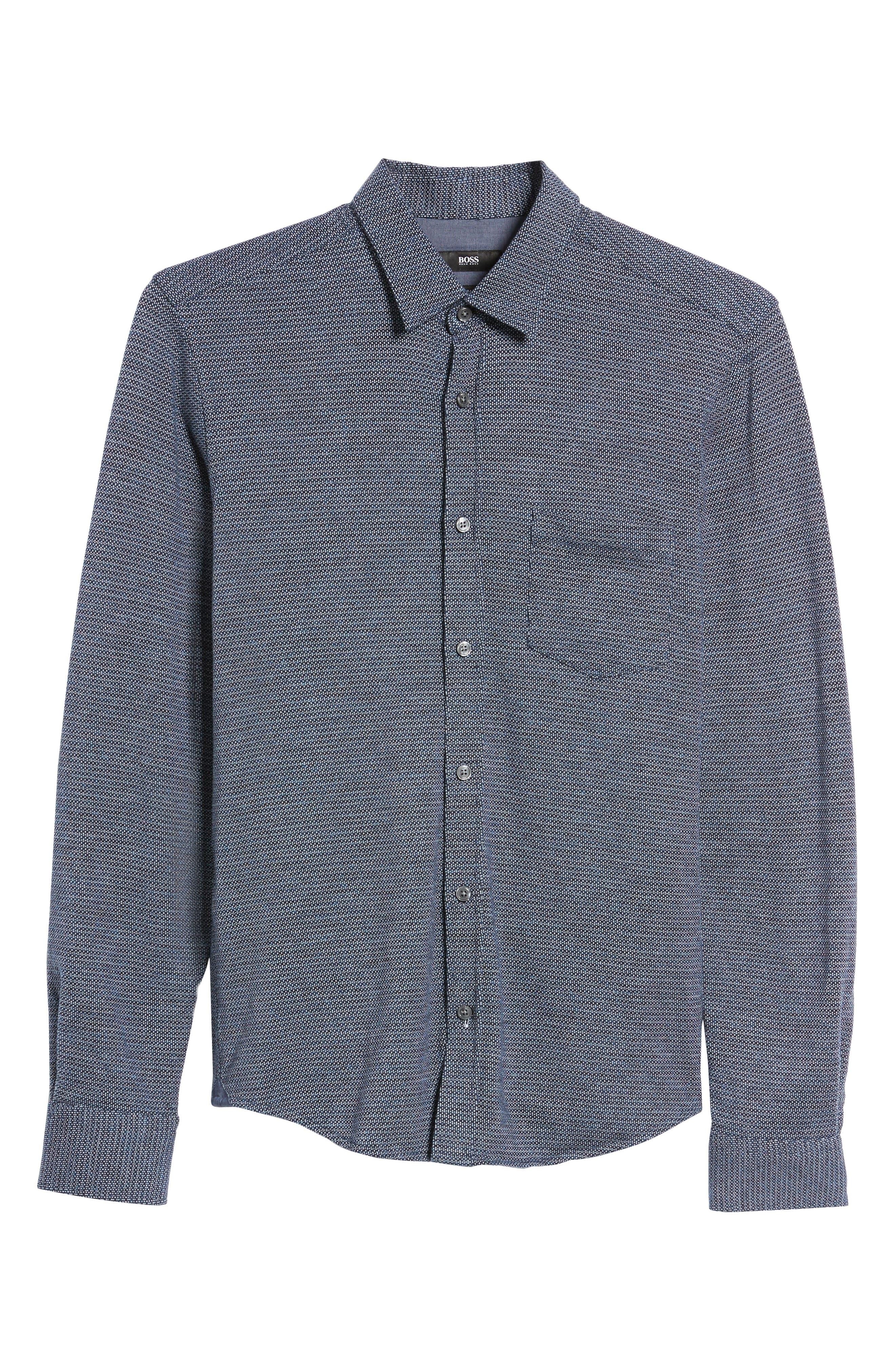 Alternate Image 6  - BOSS Reid Slim Fit Jersey Sport Shirt