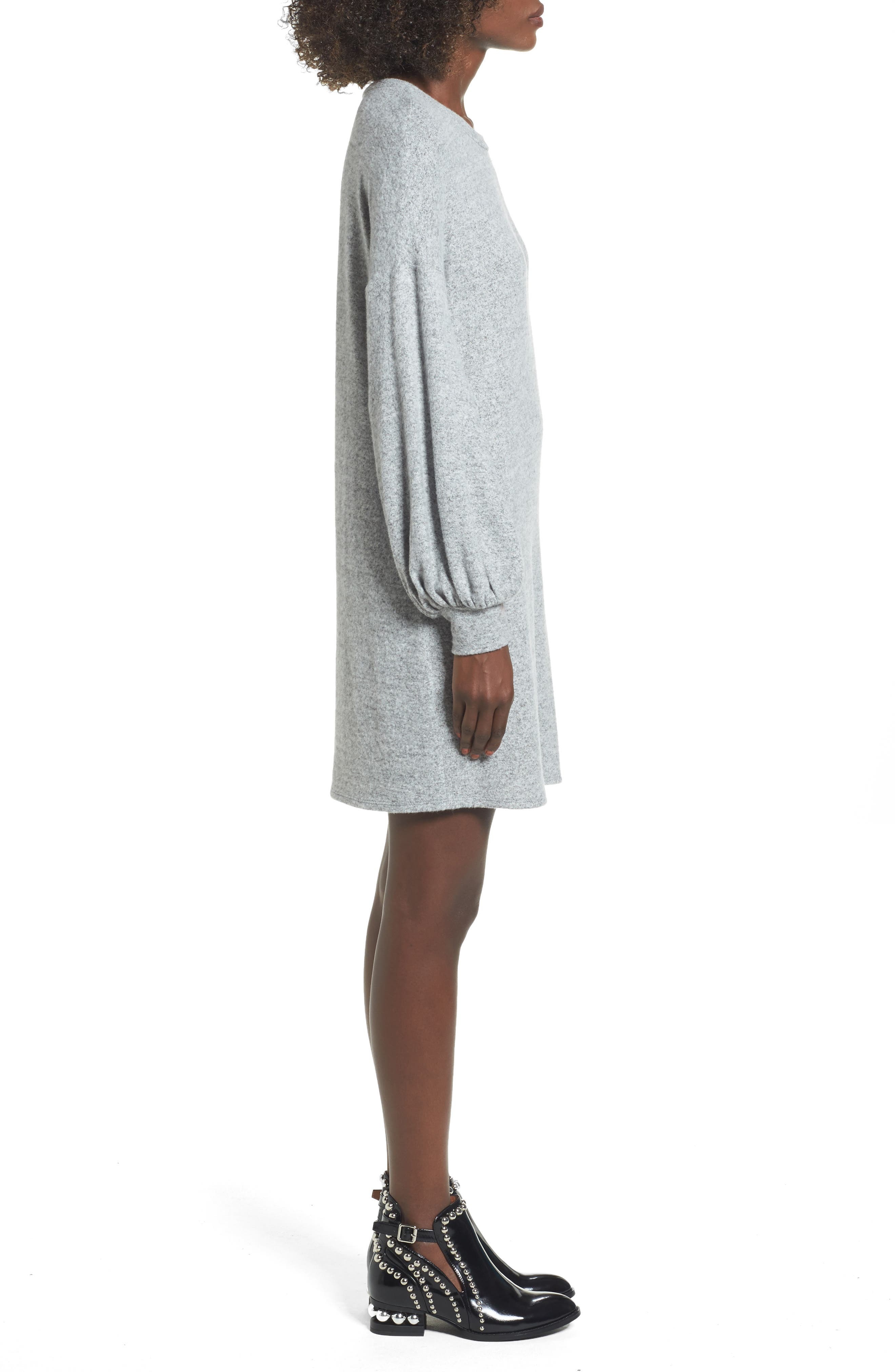 Alternate Image 3  - Soprano Balloon Sleeve Sweater Dress