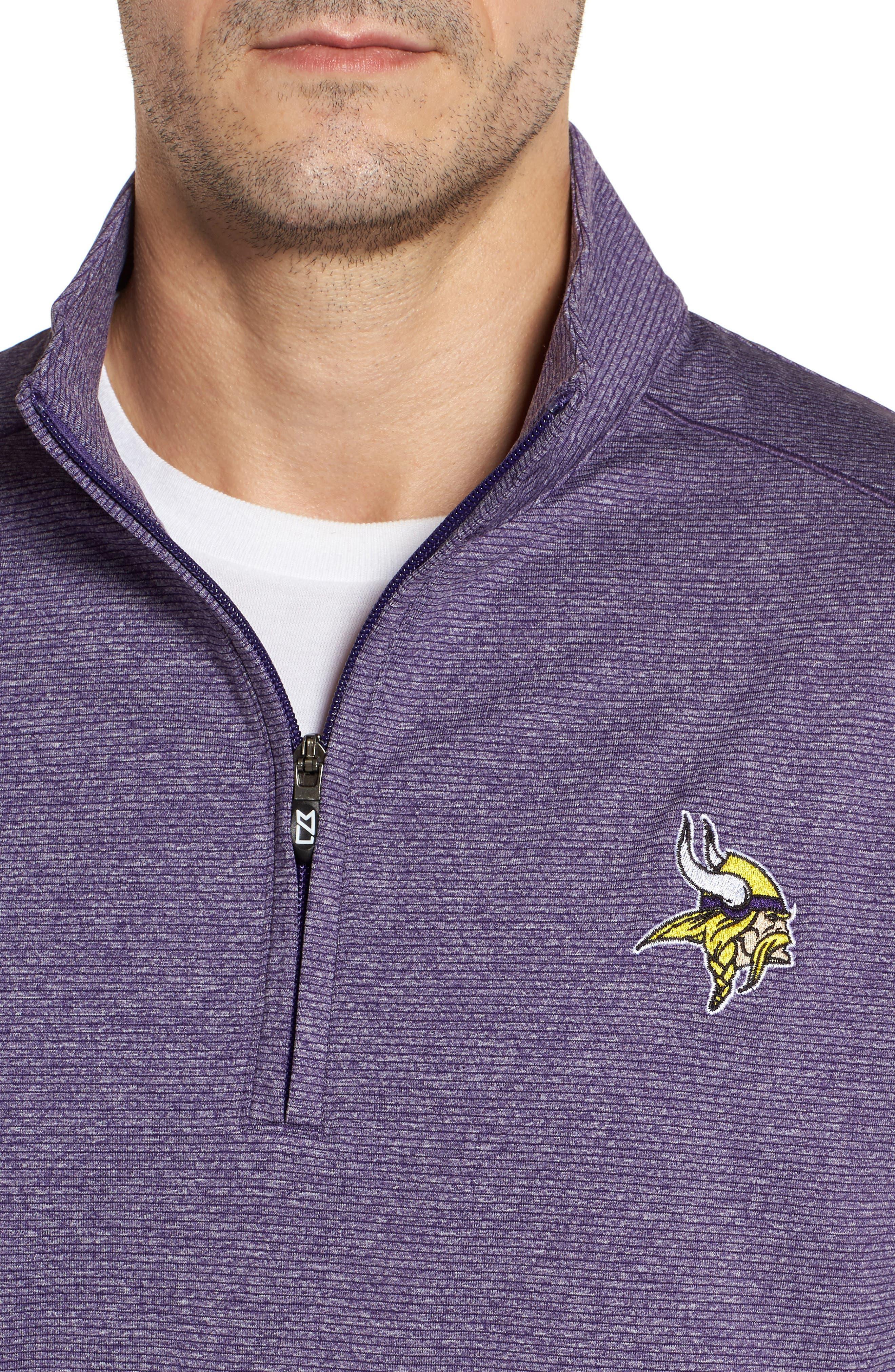 Shoreline - Minnesota Vikings Half Zip Pullover,                             Alternate thumbnail 4, color,                             College Purple Heather