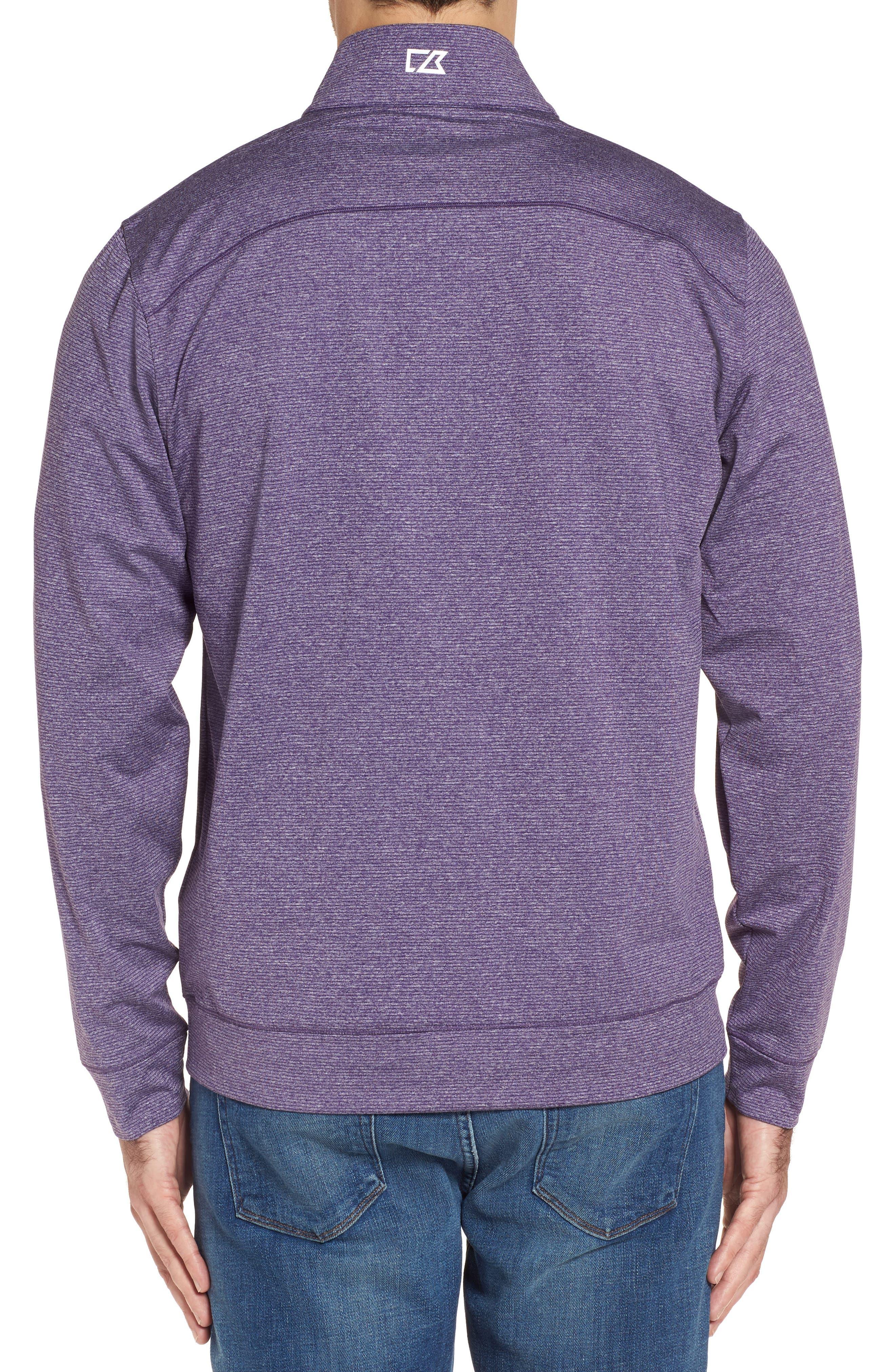 Shoreline - Minnesota Vikings Half Zip Pullover,                             Alternate thumbnail 2, color,                             College Purple Heather