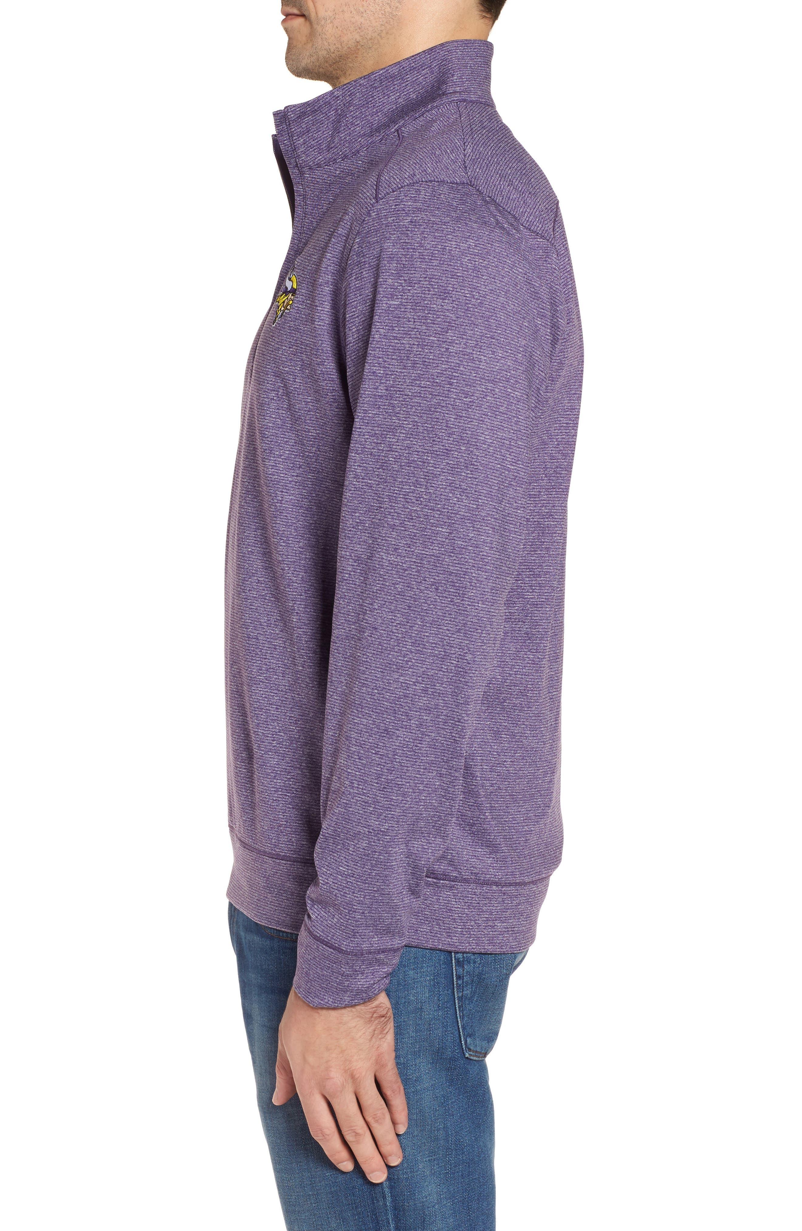 Shoreline - Minnesota Vikings Half Zip Pullover,                             Alternate thumbnail 3, color,                             College Purple Heather