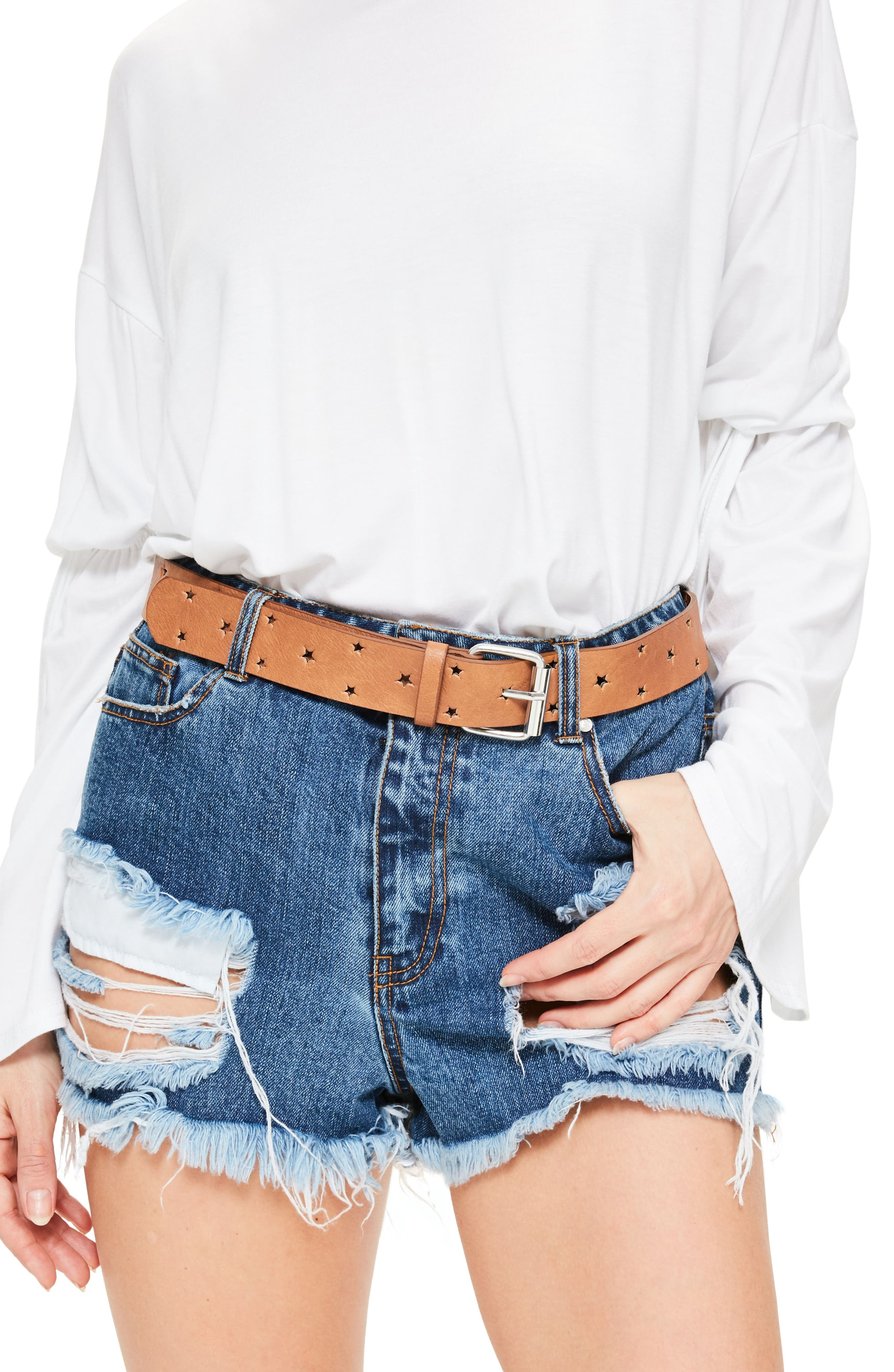 Missguided Cutout Star Faux Leather Belt