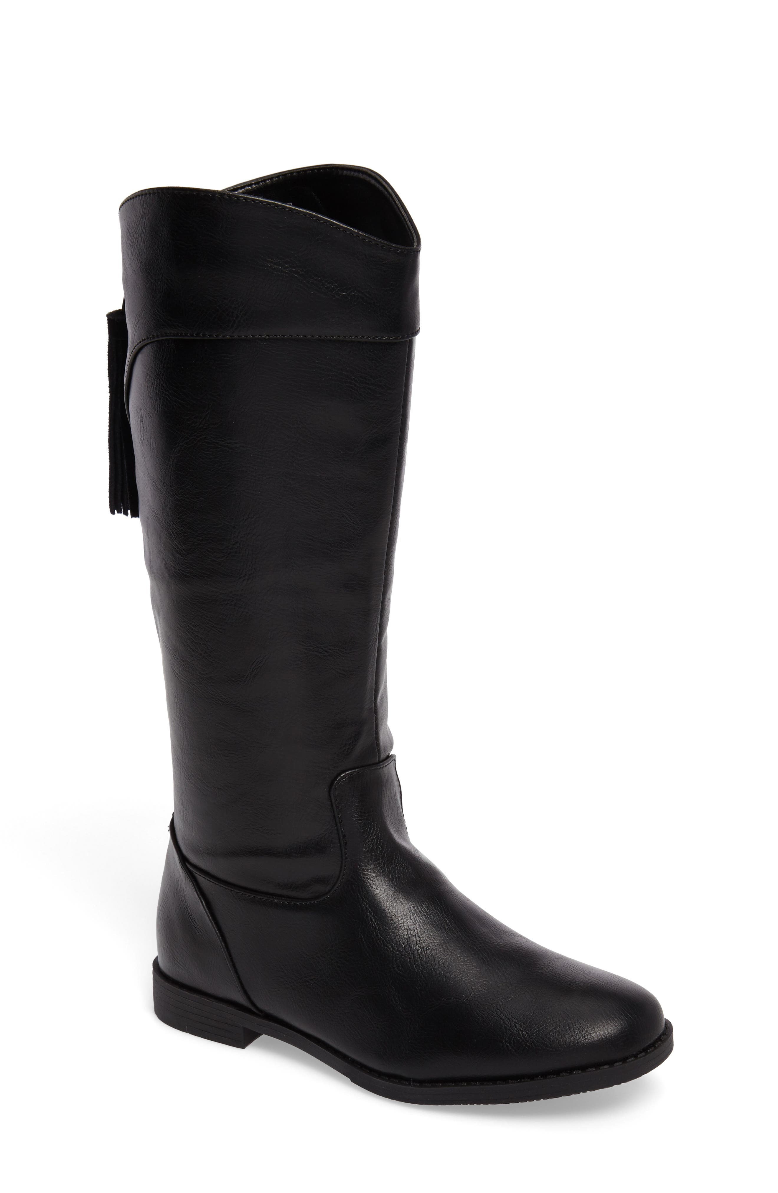 Kennedy Tassel Tall Boot,                         Main,                         color, Black