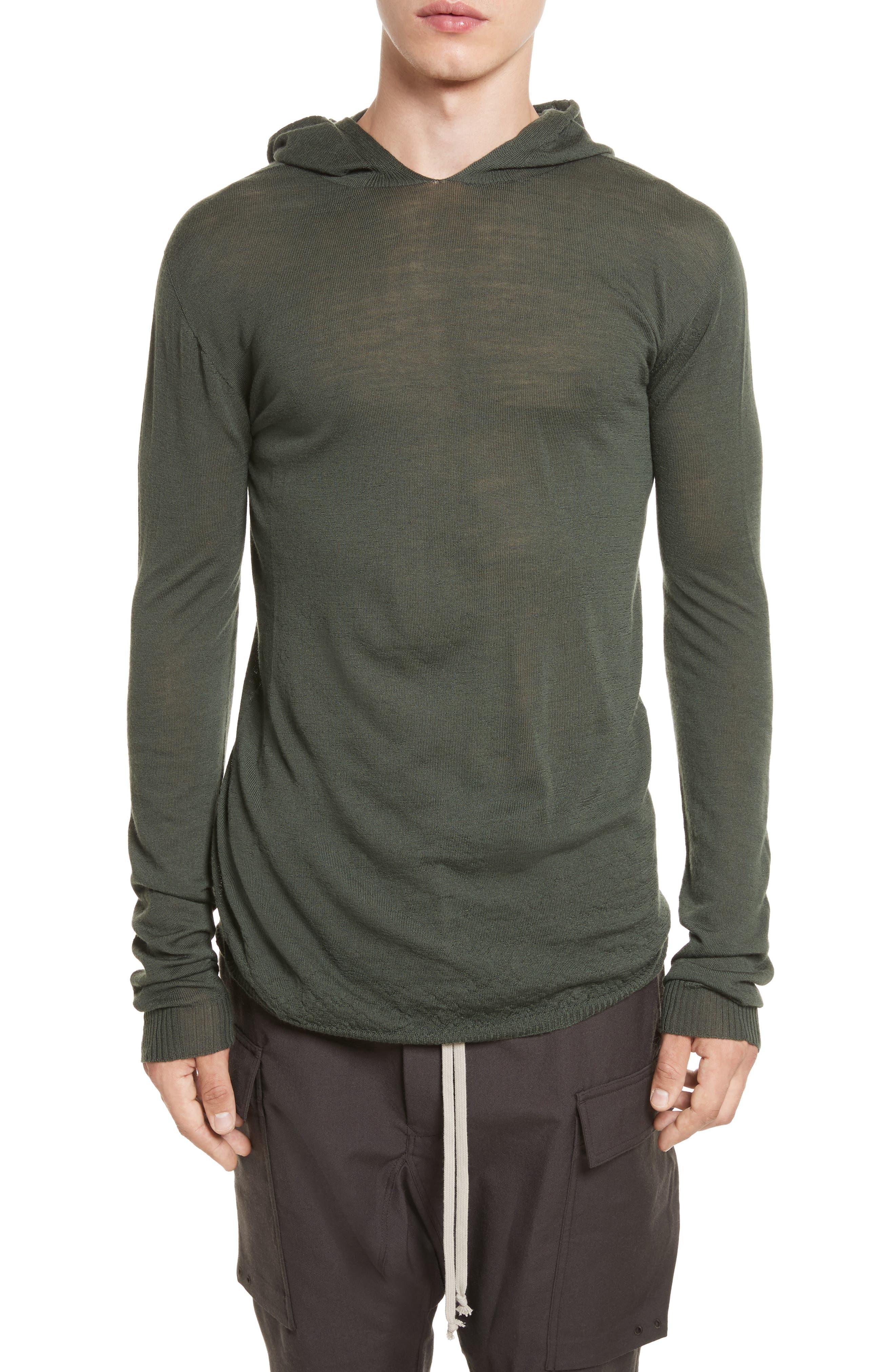 Rick Owens Hooded Wool Sweater