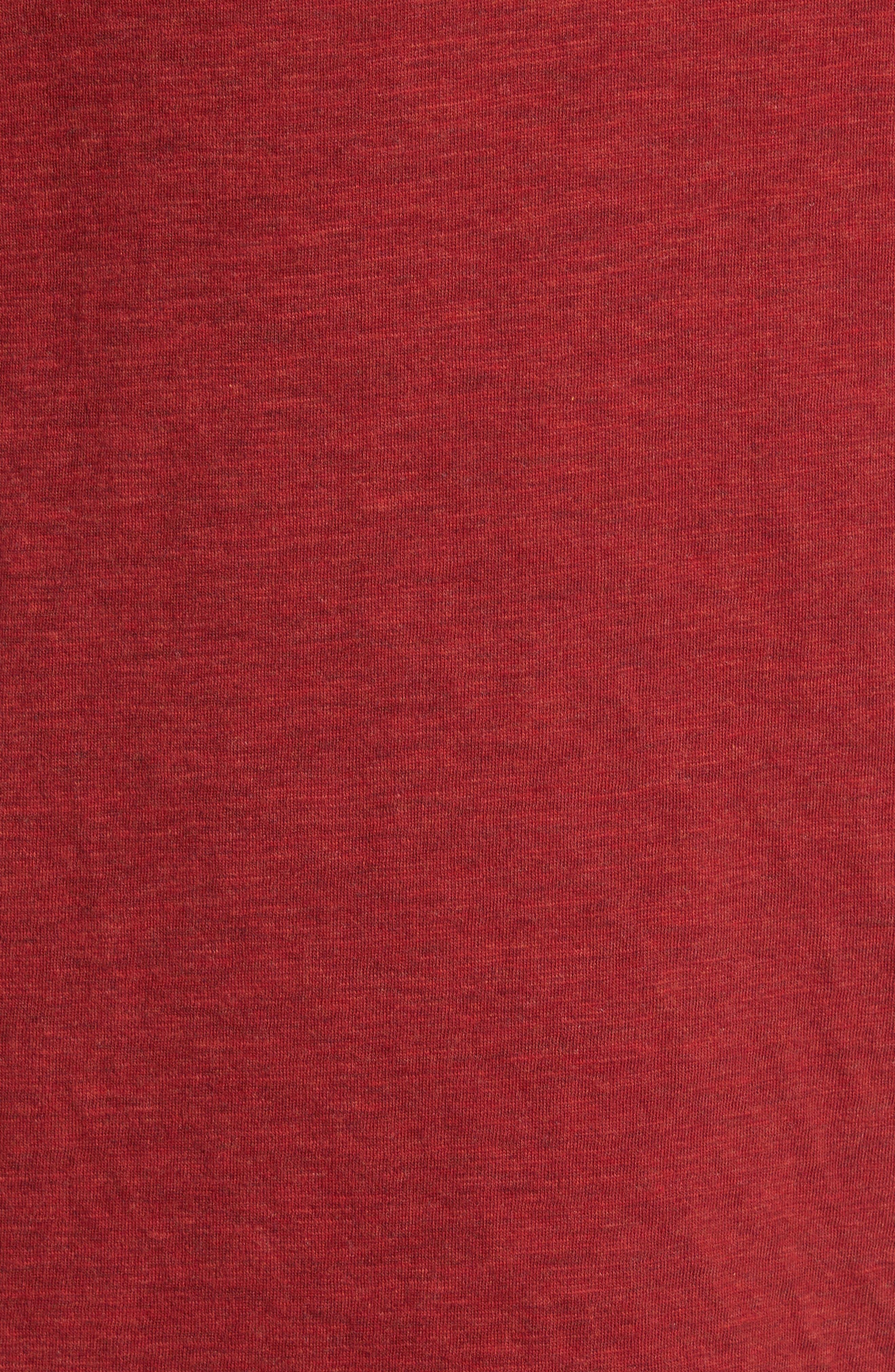 Mitch Reversible Slubbed Quarter Snap Pullover,                             Alternate thumbnail 5, color,                             Oxblood Heather
