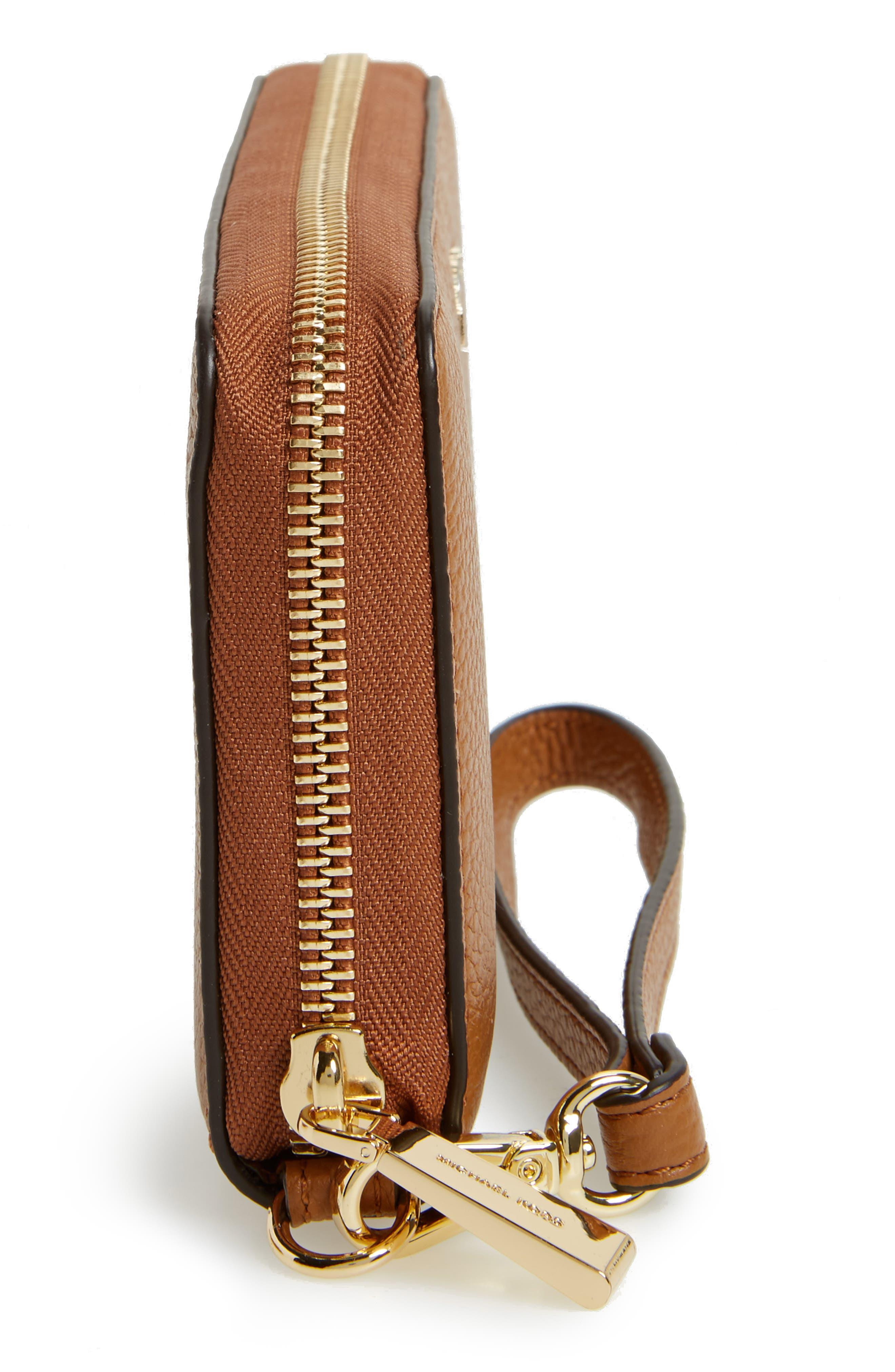 Mercer Large Leather Tech Wristlet,                             Alternate thumbnail 4, color,                             Acorn