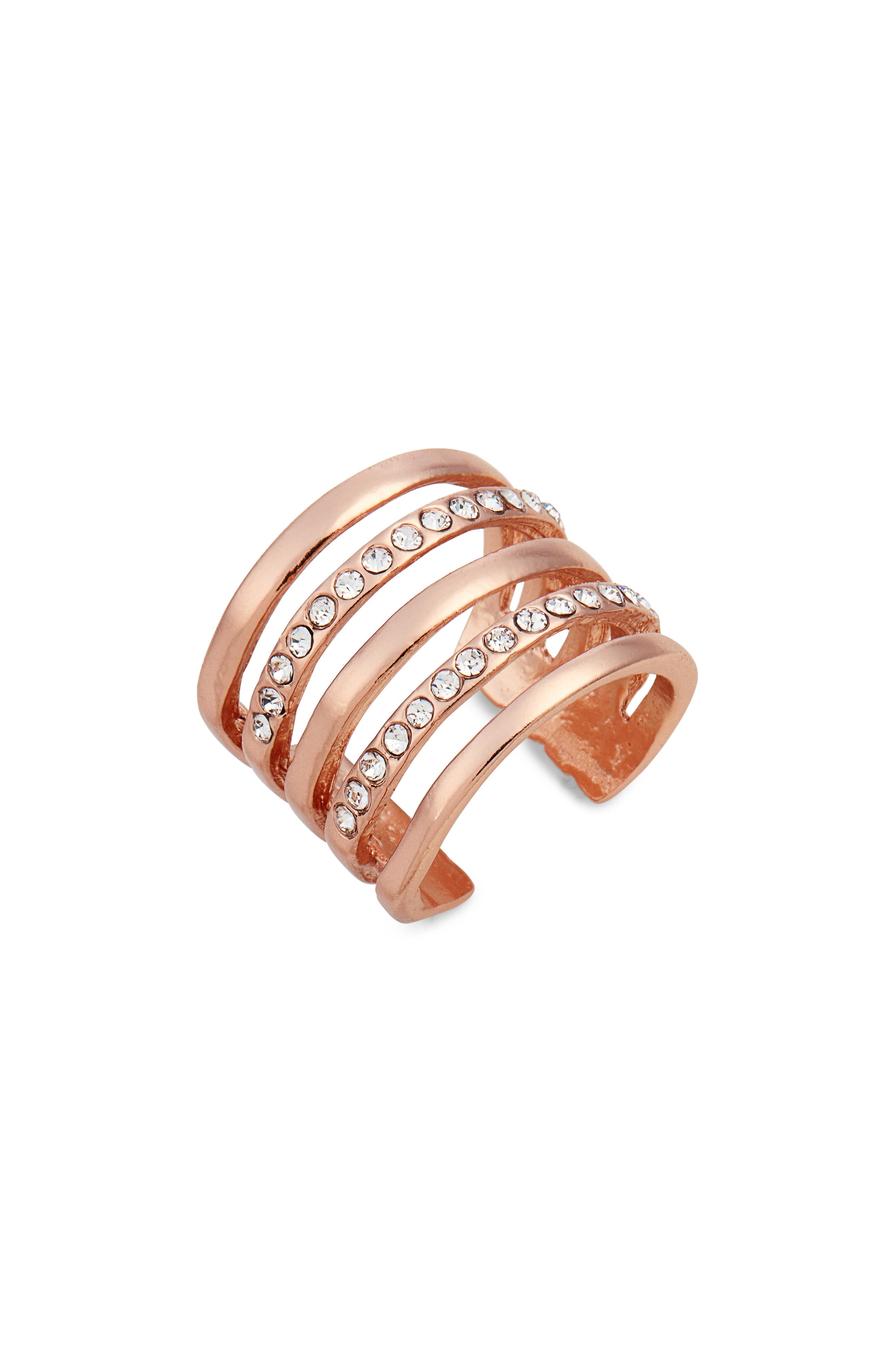 Claire Cage Ring,                             Main thumbnail 1, color,                             Rose Gold