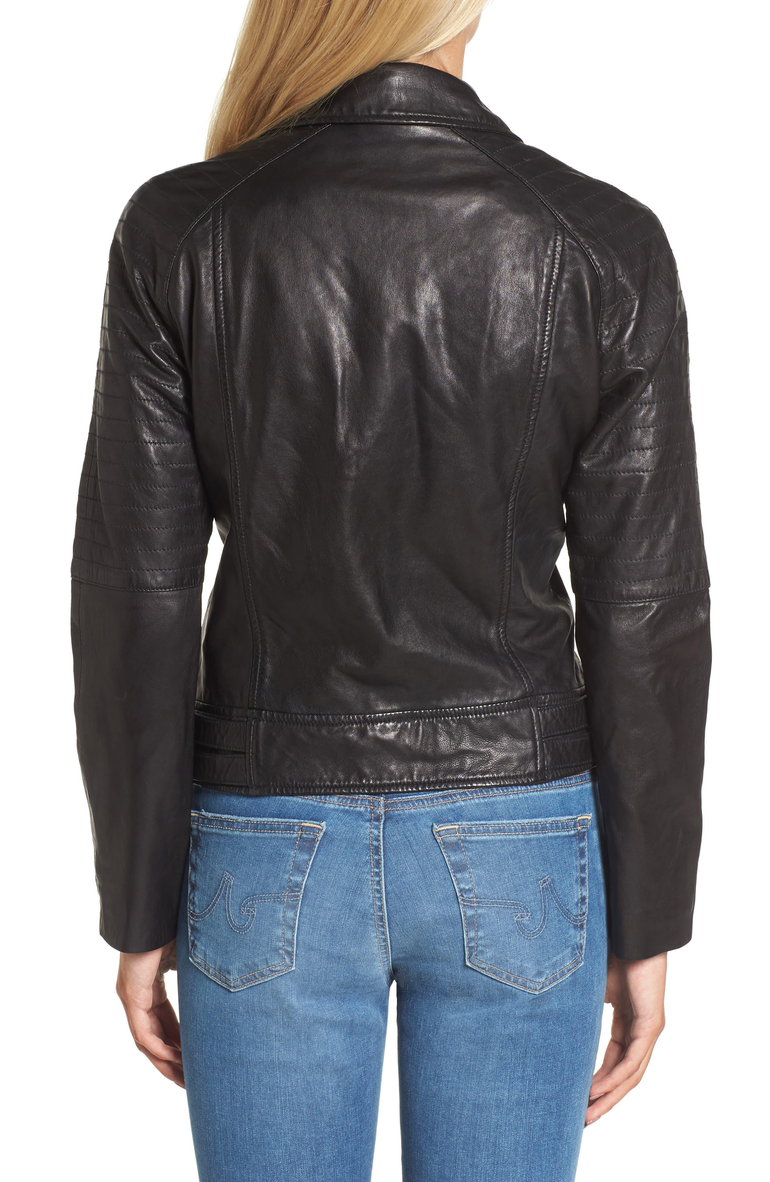 Alternate Image 2  - BB Dakota Harwick Leather Moto Jacket
