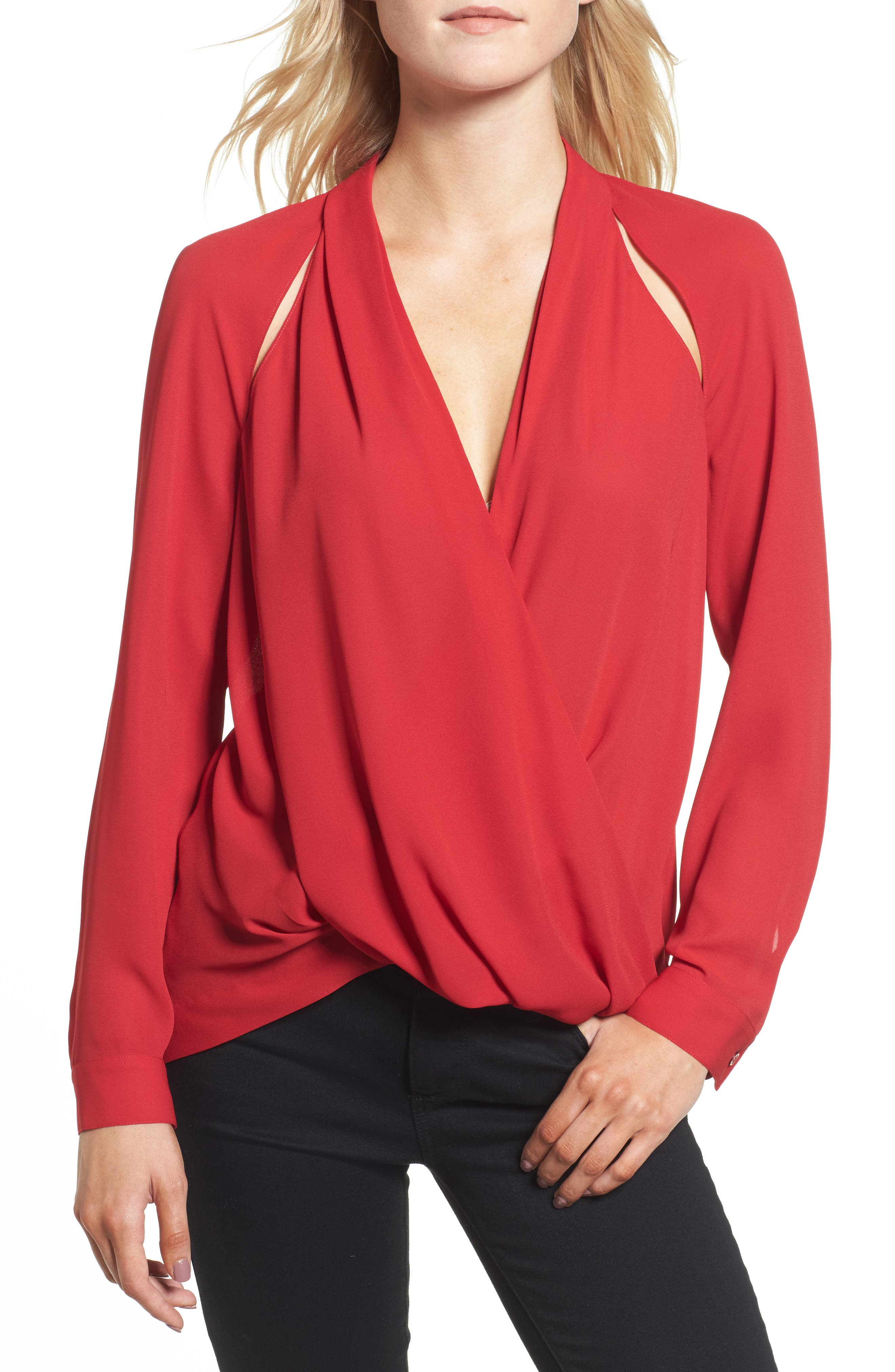 Trouvé Cutout Surplice Top
