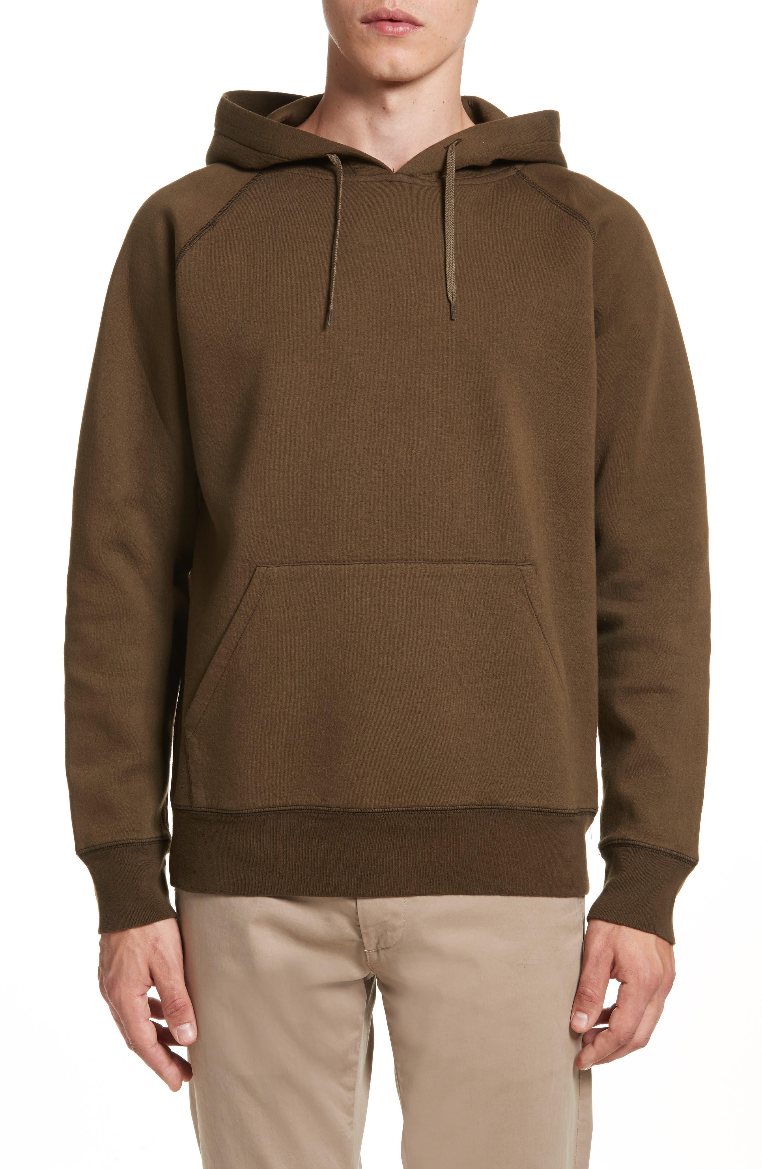 Pullover Hoodie,                         Main,                         color, Dark Olive