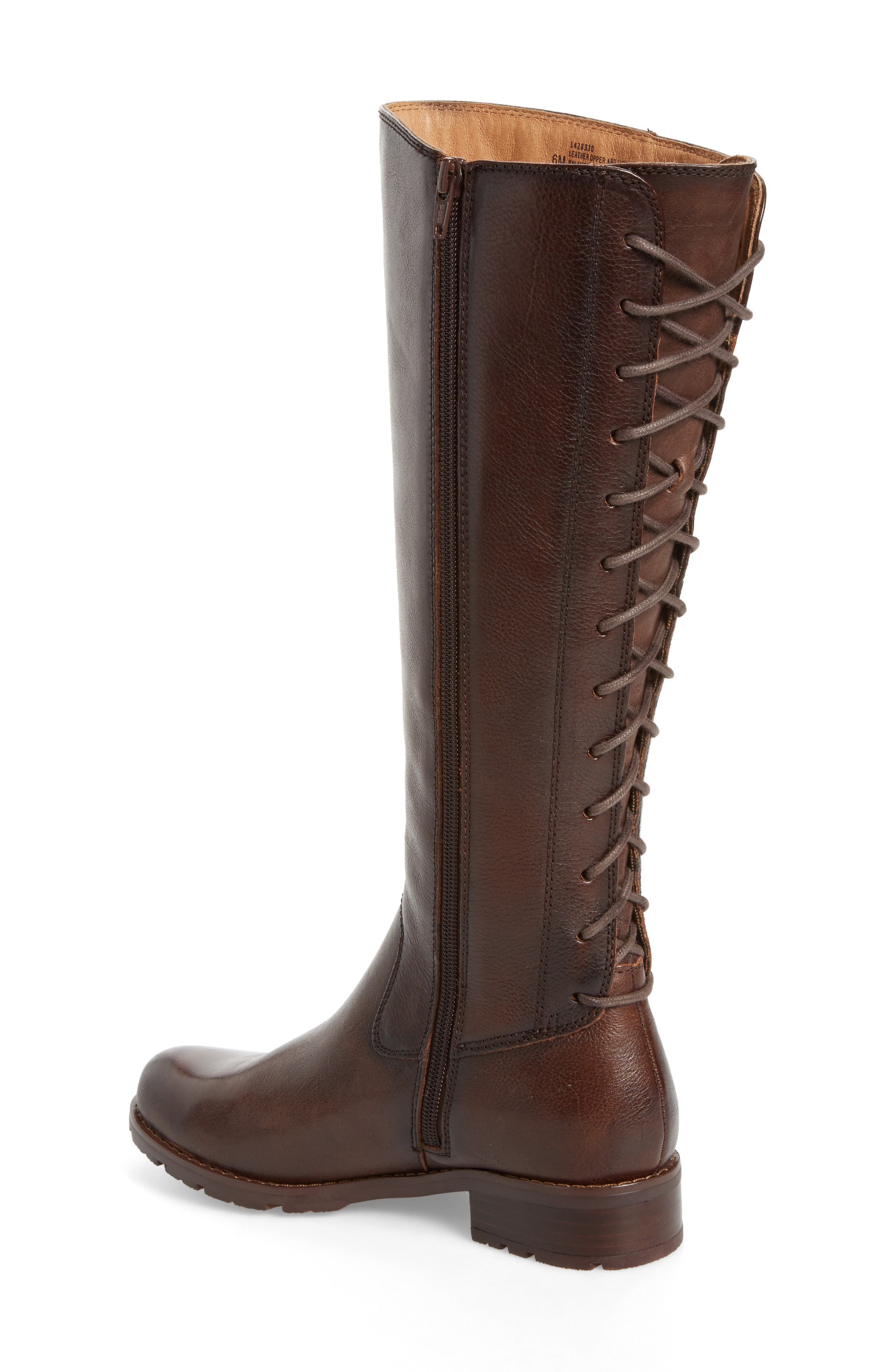 'Sharnell' Riding Boot,                             Alternate thumbnail 2, color,                             Aztec Brown Leather