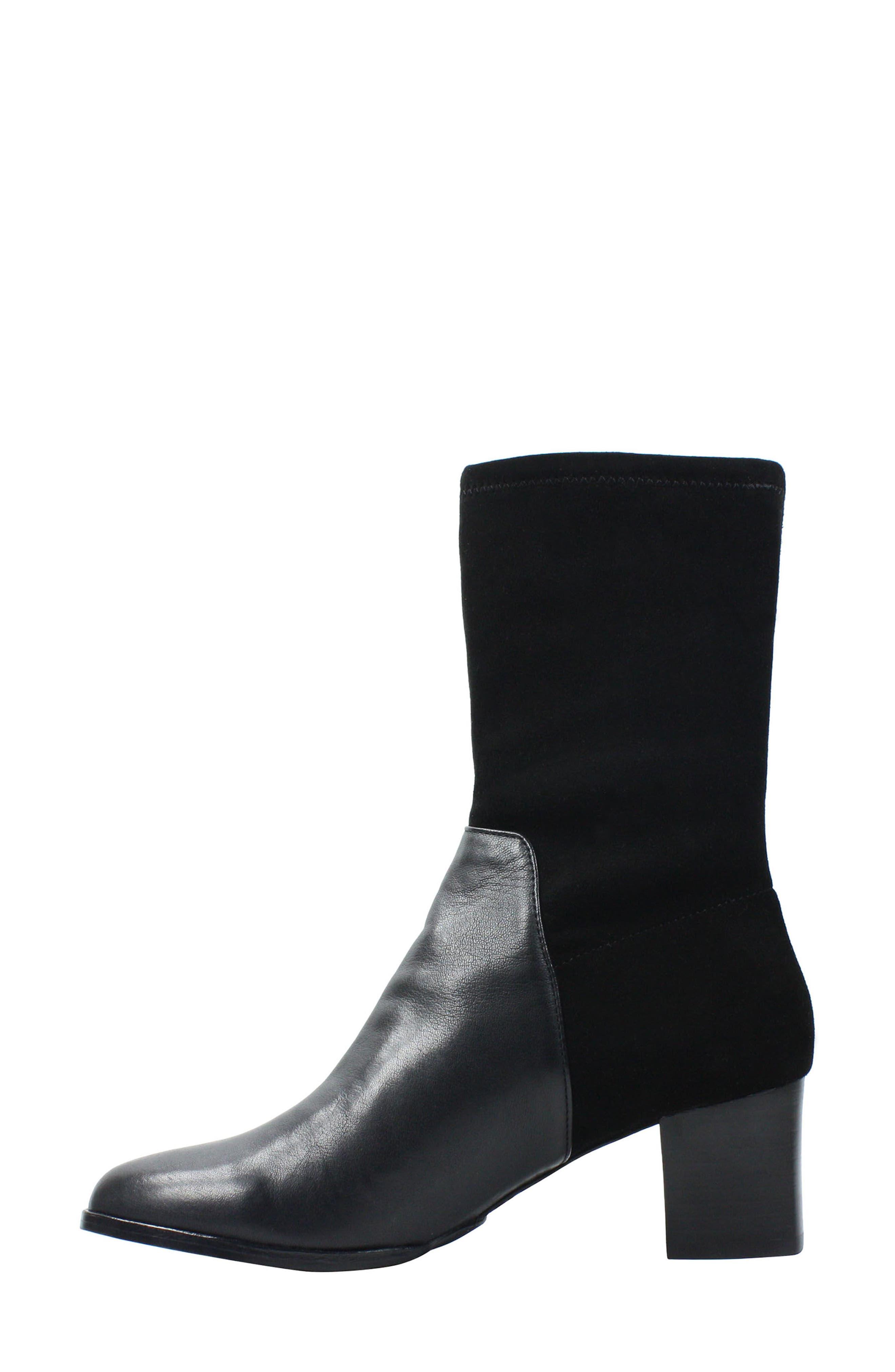 Pasublo Bootie,                             Alternate thumbnail 2, color,                             Black Leather