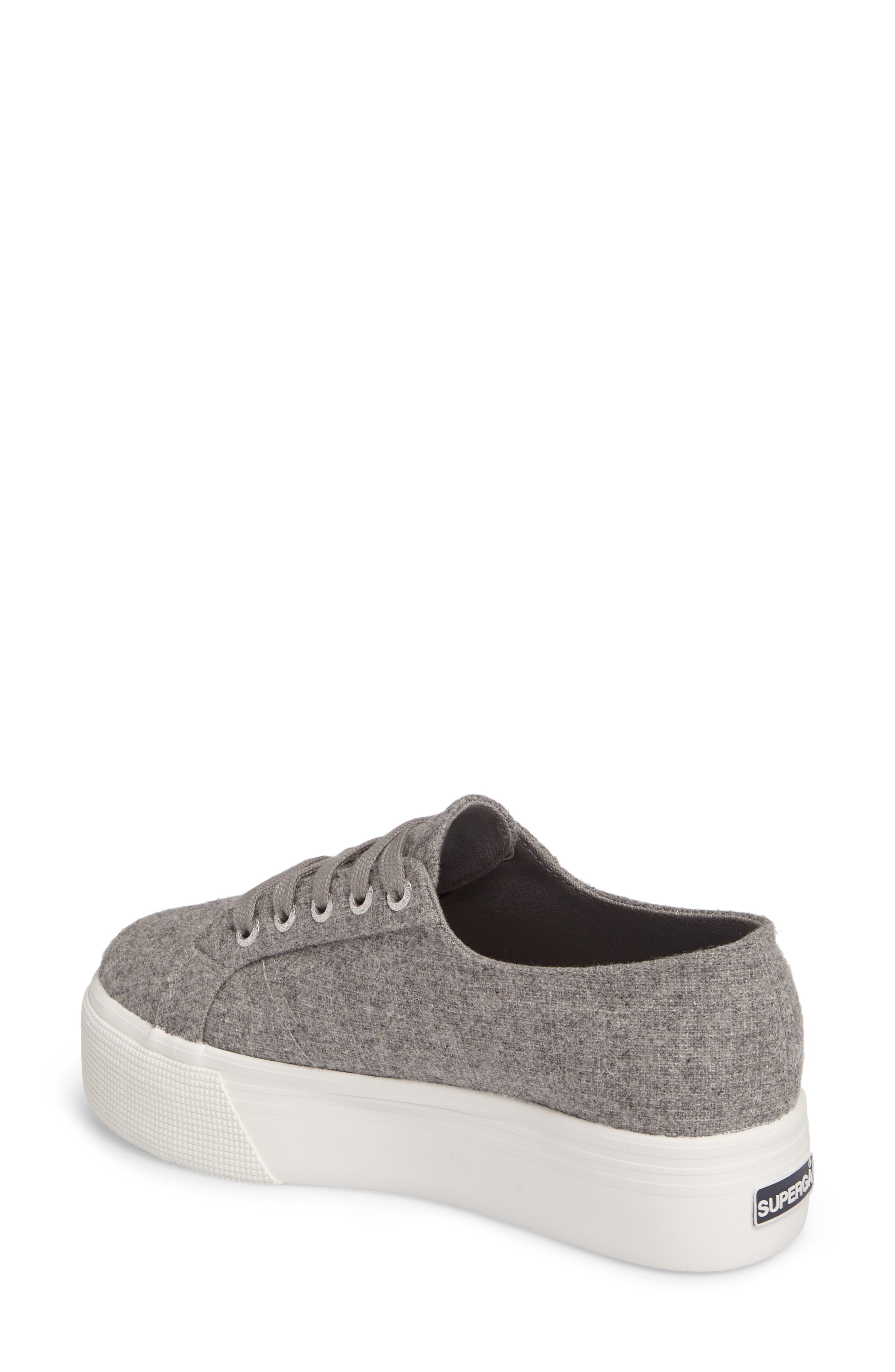 2790 Platform Sneaker,                             Alternate thumbnail 2, color,                             Light Grey Canvas