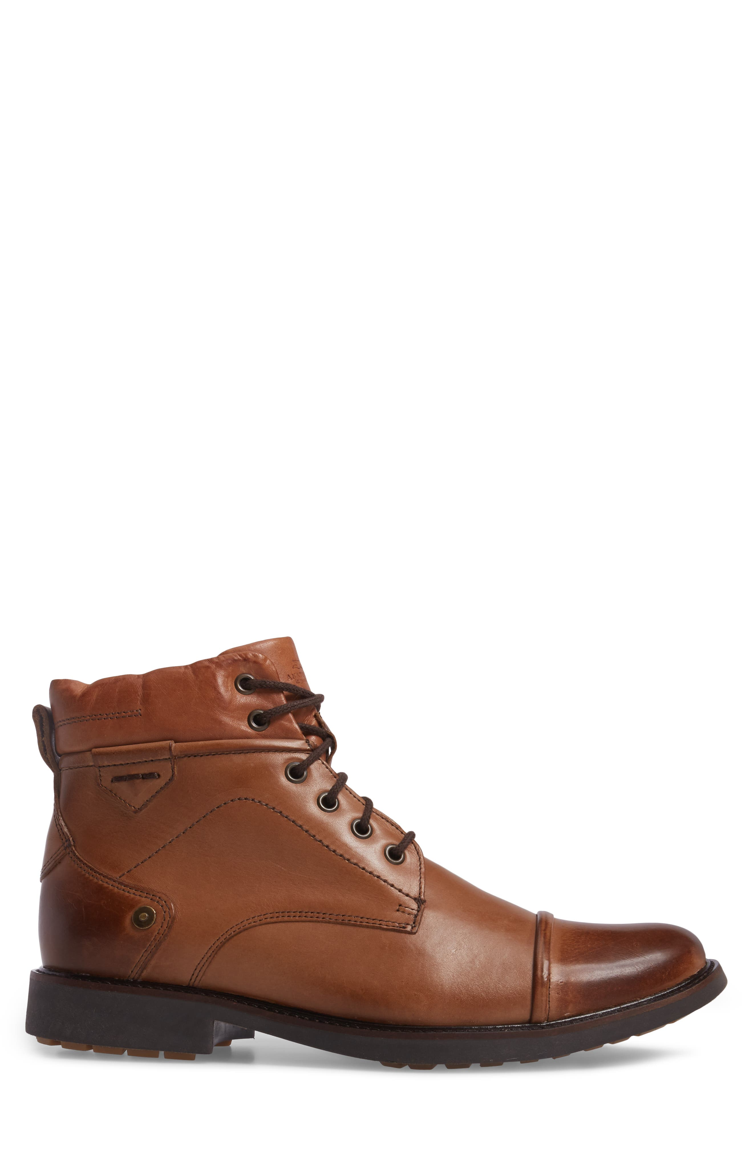Samuel Cap Toe Boot,                             Alternate thumbnail 3, color,                             Touch Bronze Foxy