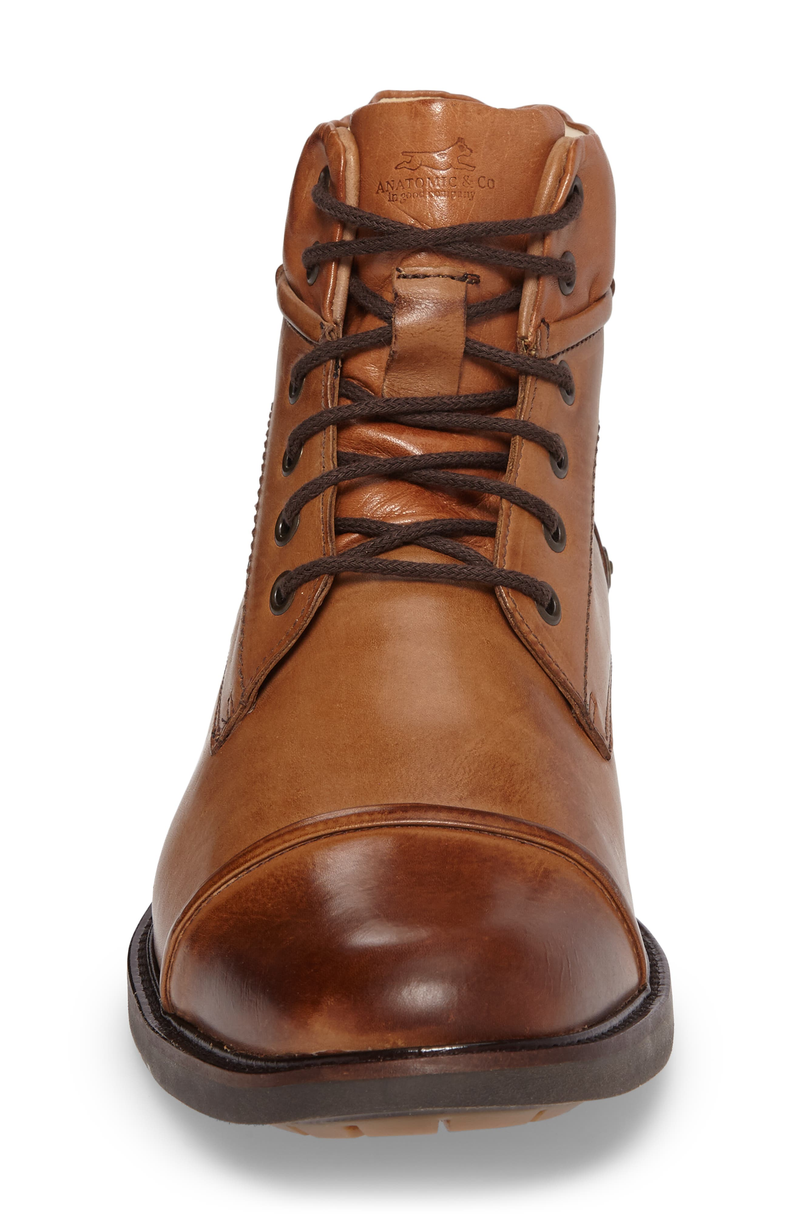 Samuel Cap Toe Boot,                             Alternate thumbnail 4, color,                             Touch Bronze Foxy