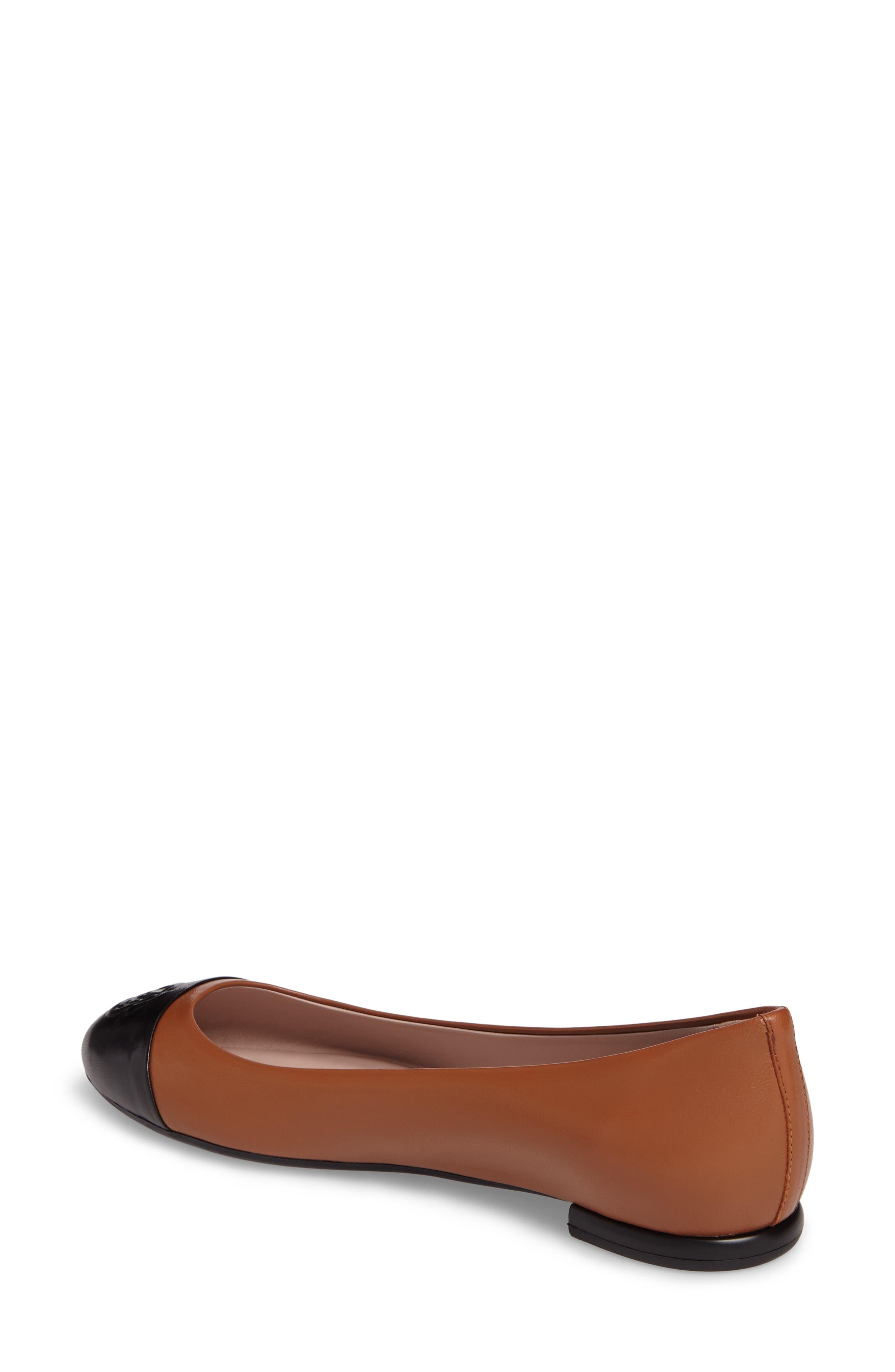 Rosa Ballet Flat,                             Alternate thumbnail 3, color,                             Tan Leather