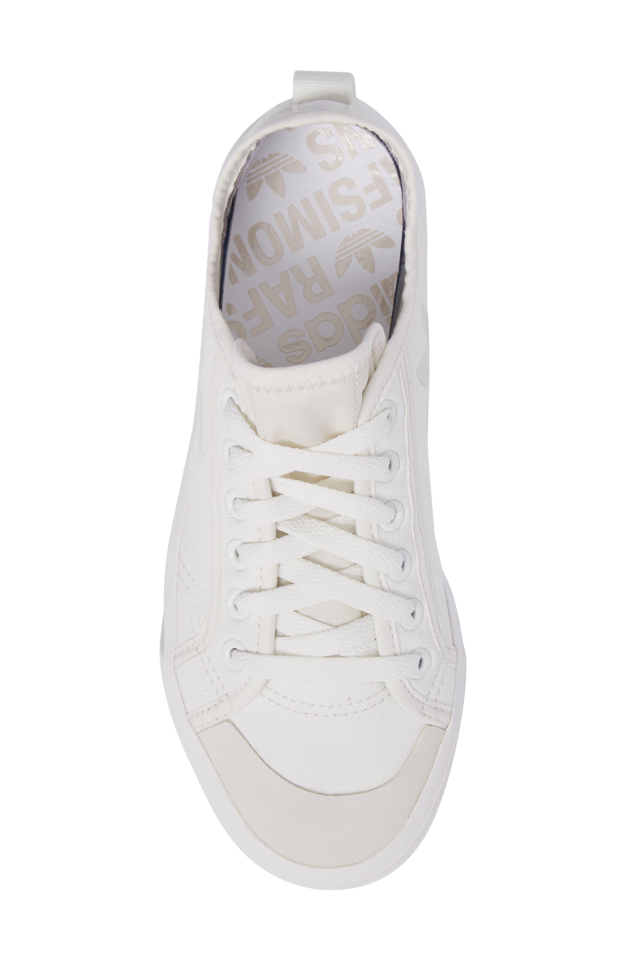 adidas by Raf Simons Spirit Low Top Sneaker,                             Alternate thumbnail 5, color,                             Optic White