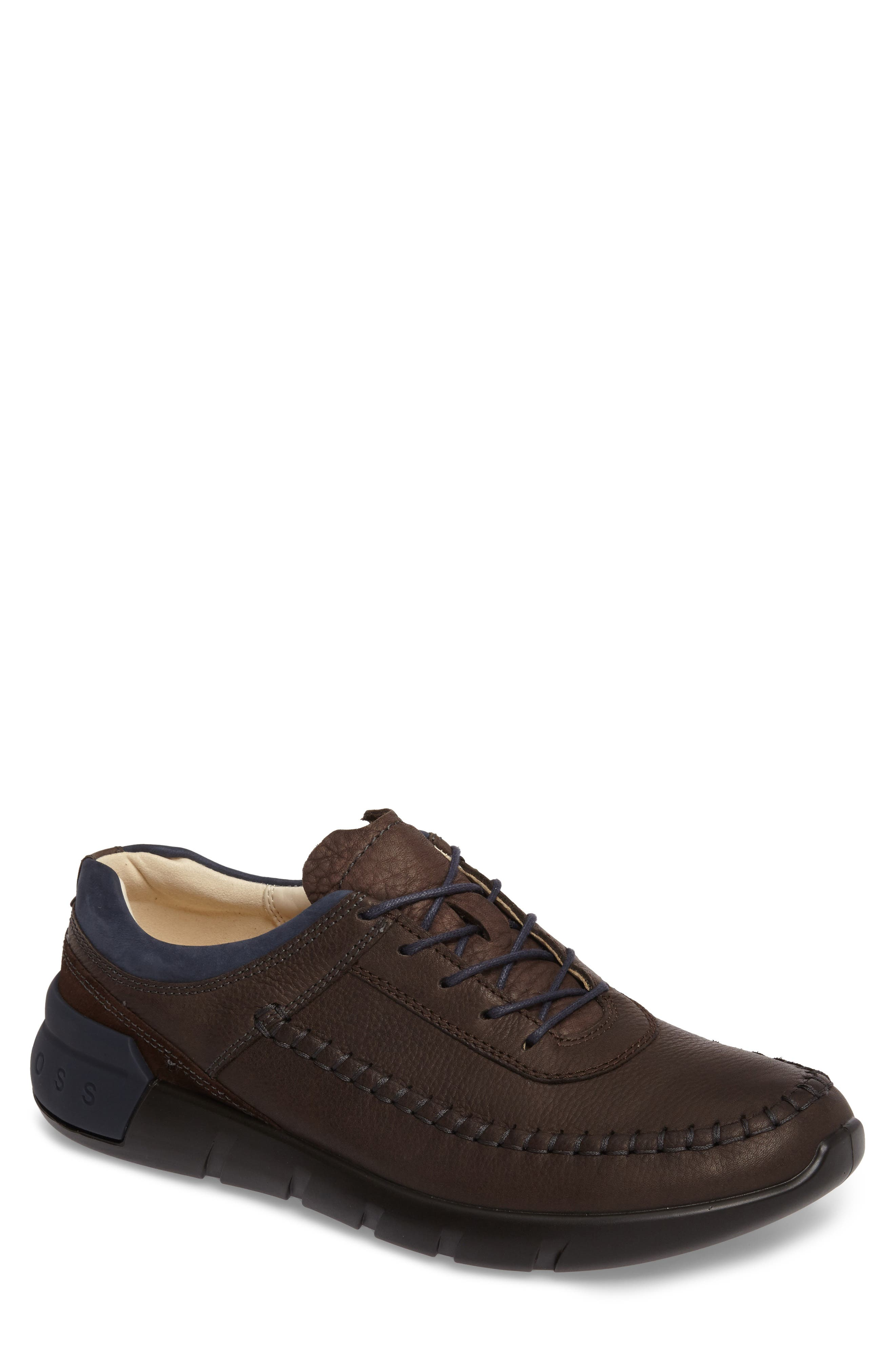 Cross X Classic Sneaker,                             Main thumbnail 1, color,                             Coffee/ Marine Leather