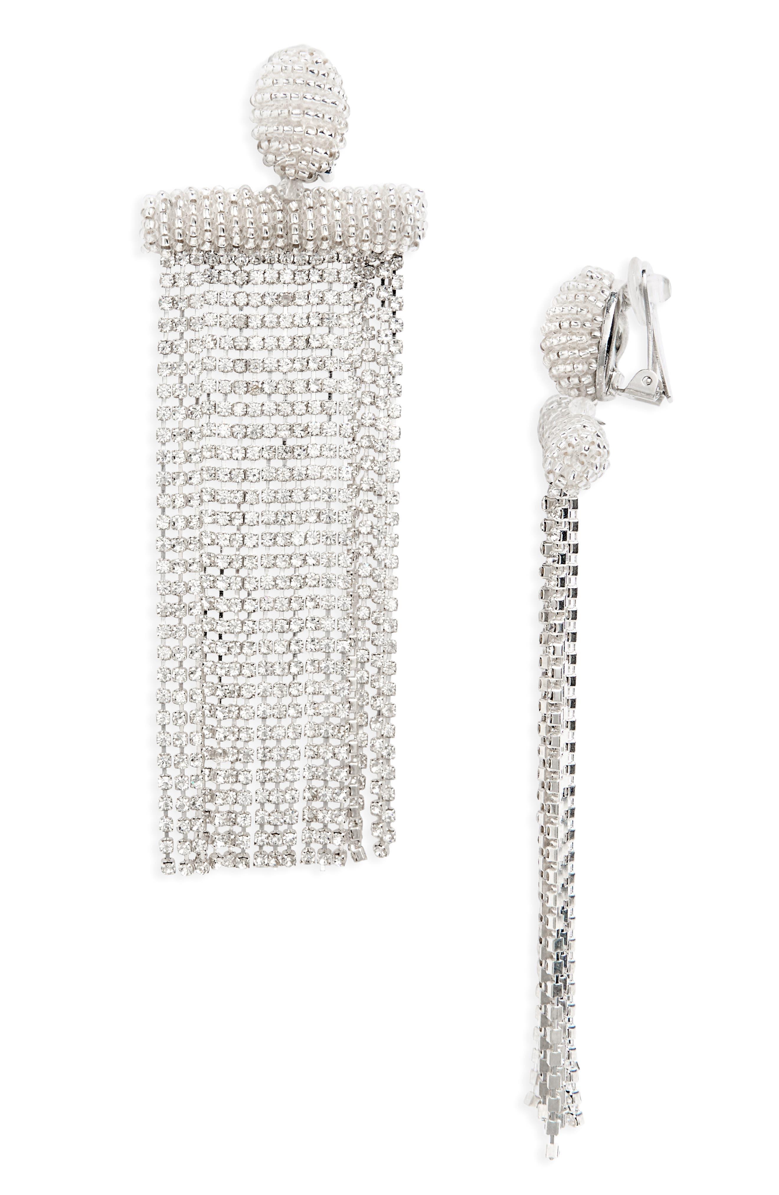 Oscar de la Renta Waterfall Tassel Earrings