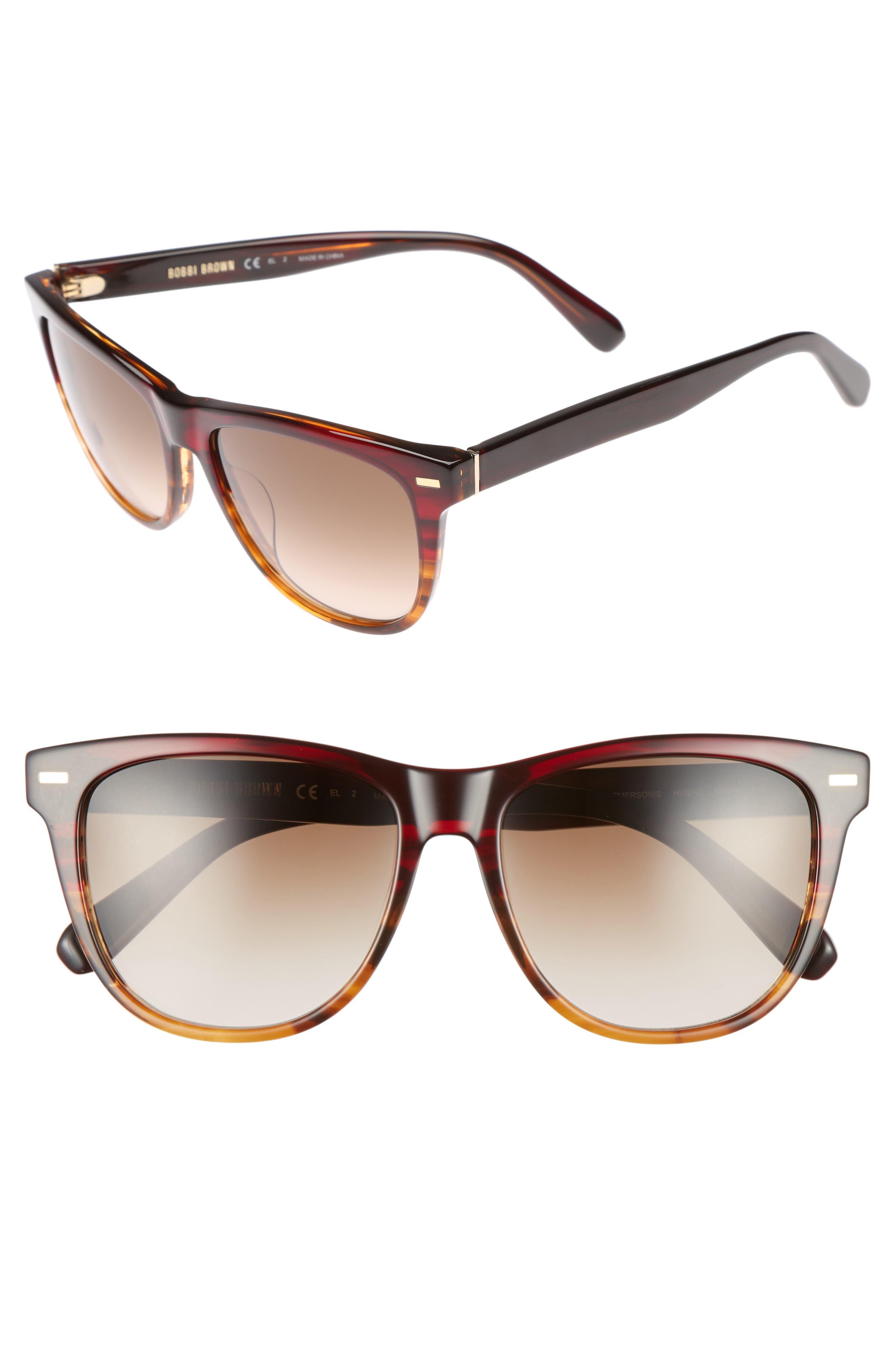 The Emerson 54mm Sunglasses,                         Main,                         color, Black
