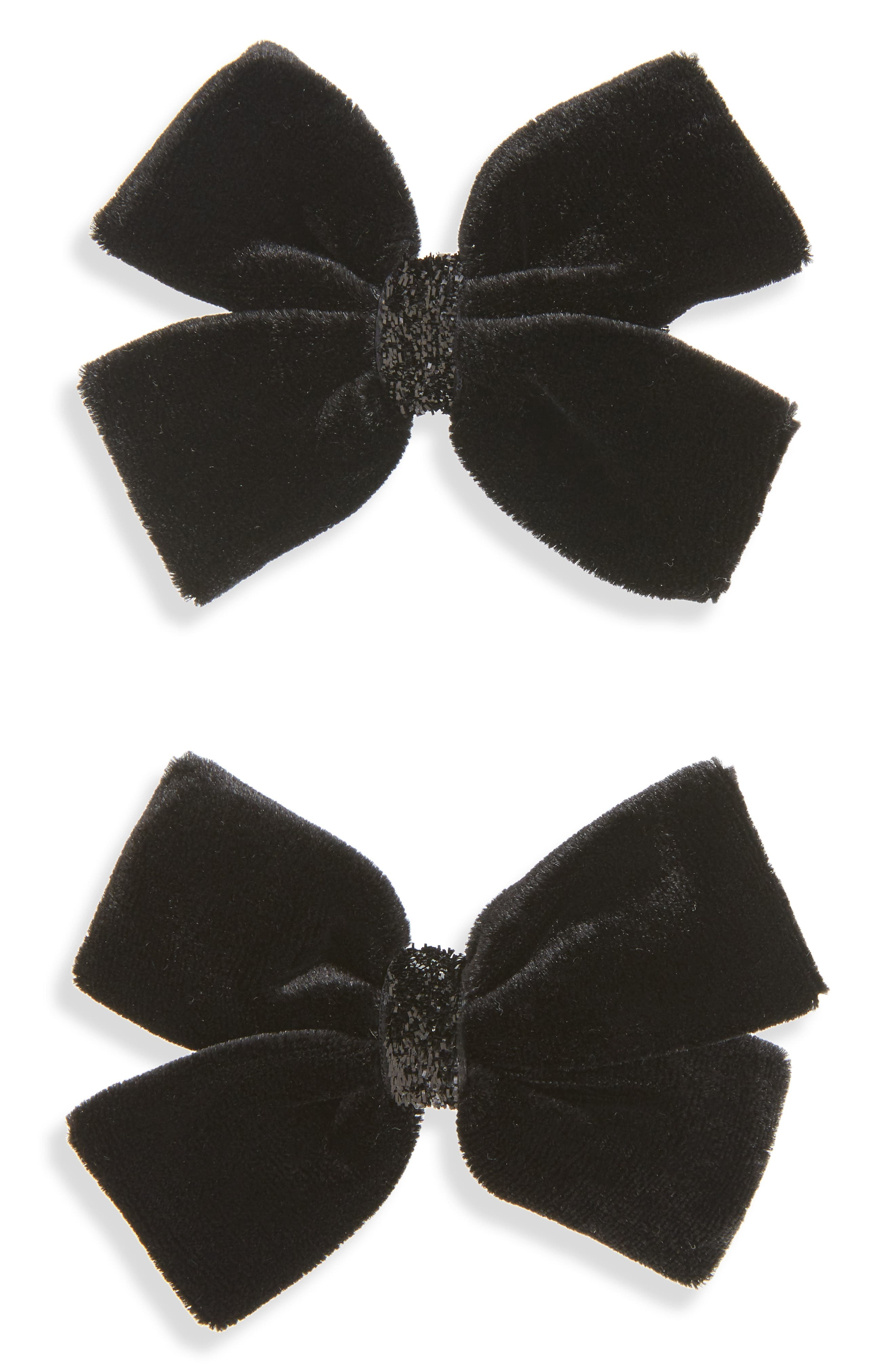 PLH Bows & Laces 2-Pack Velvet Bow Clips (Baby Girls)