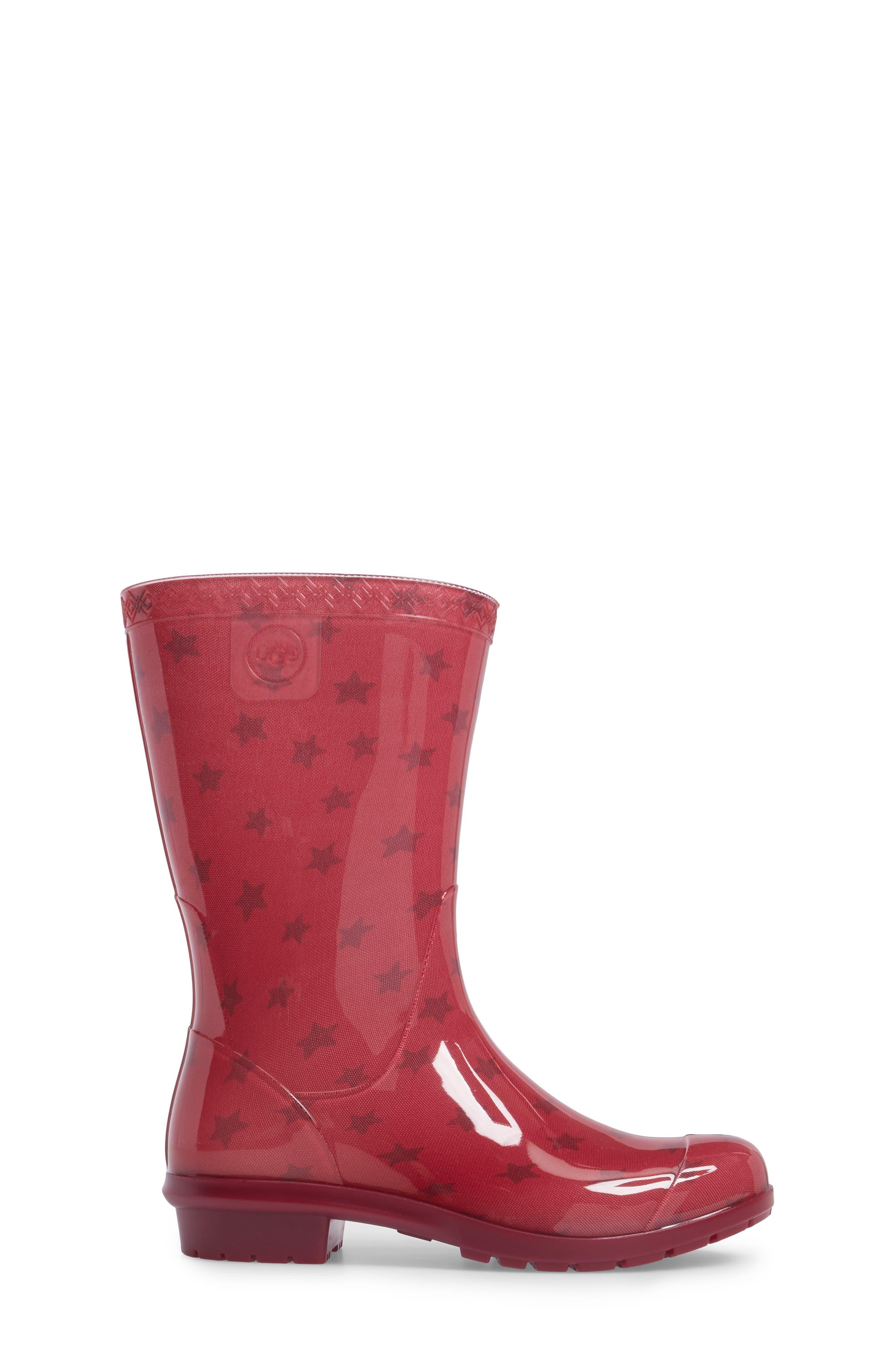 Alternate Image 3  - UGG® Raana Stars Waterproof Rain Boot (Little Kid & Big Kid)