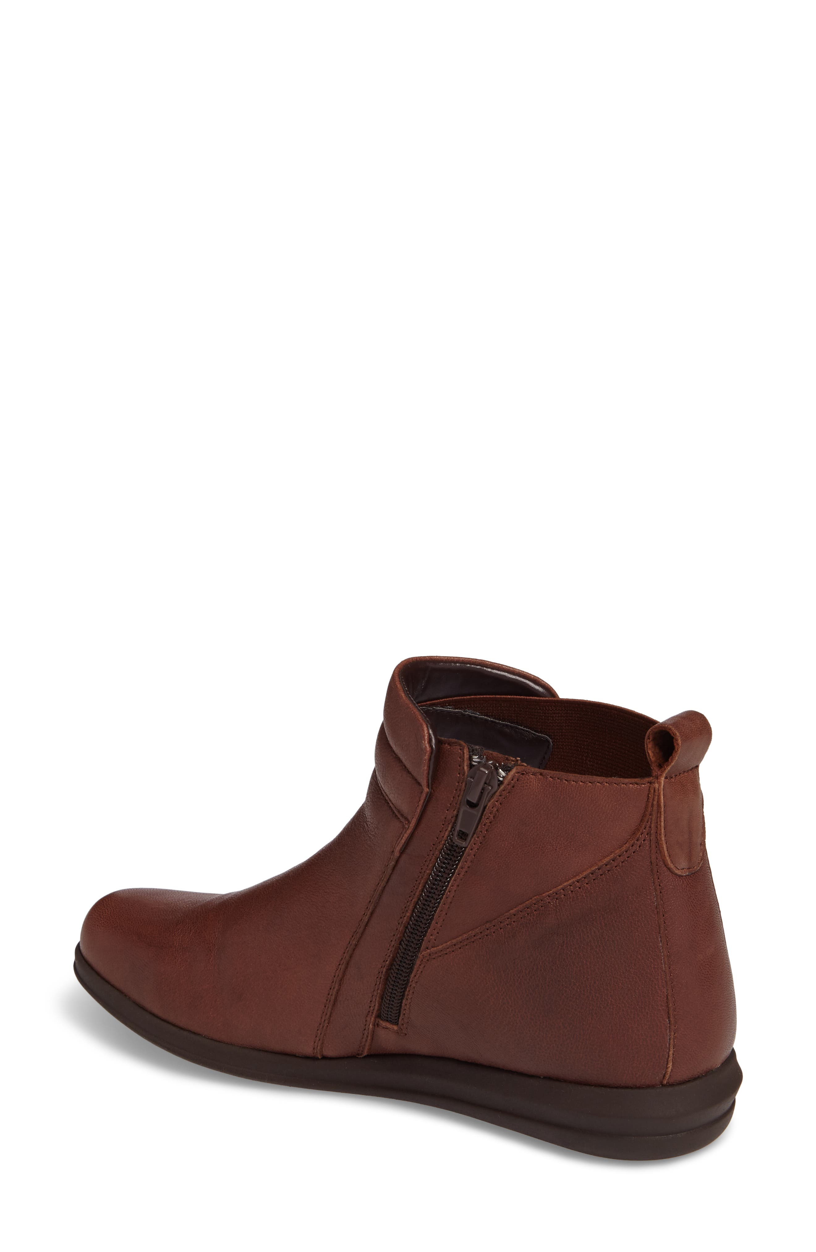 Cactus Bootie,                             Alternate thumbnail 2, color,                             Brown Leather