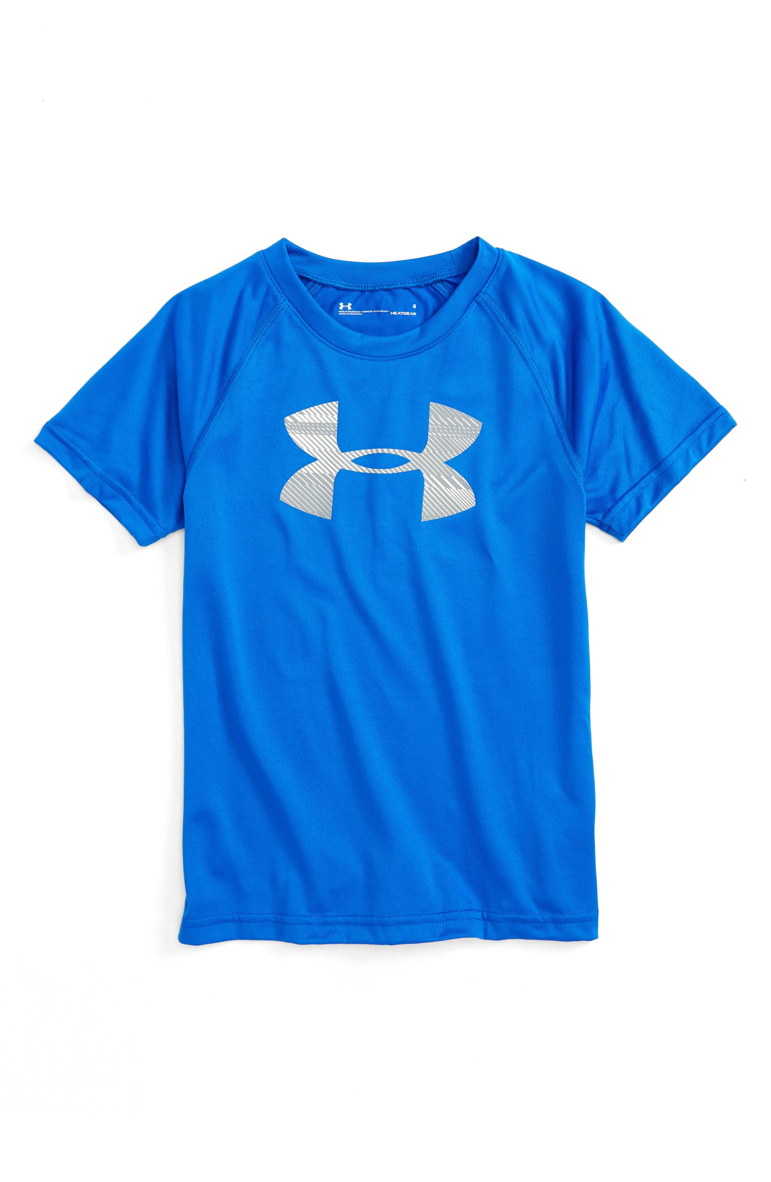 Main Image - Under Armour Speed Lines HeatGear® T-Shirt (Toddler Boys & Little Boys)