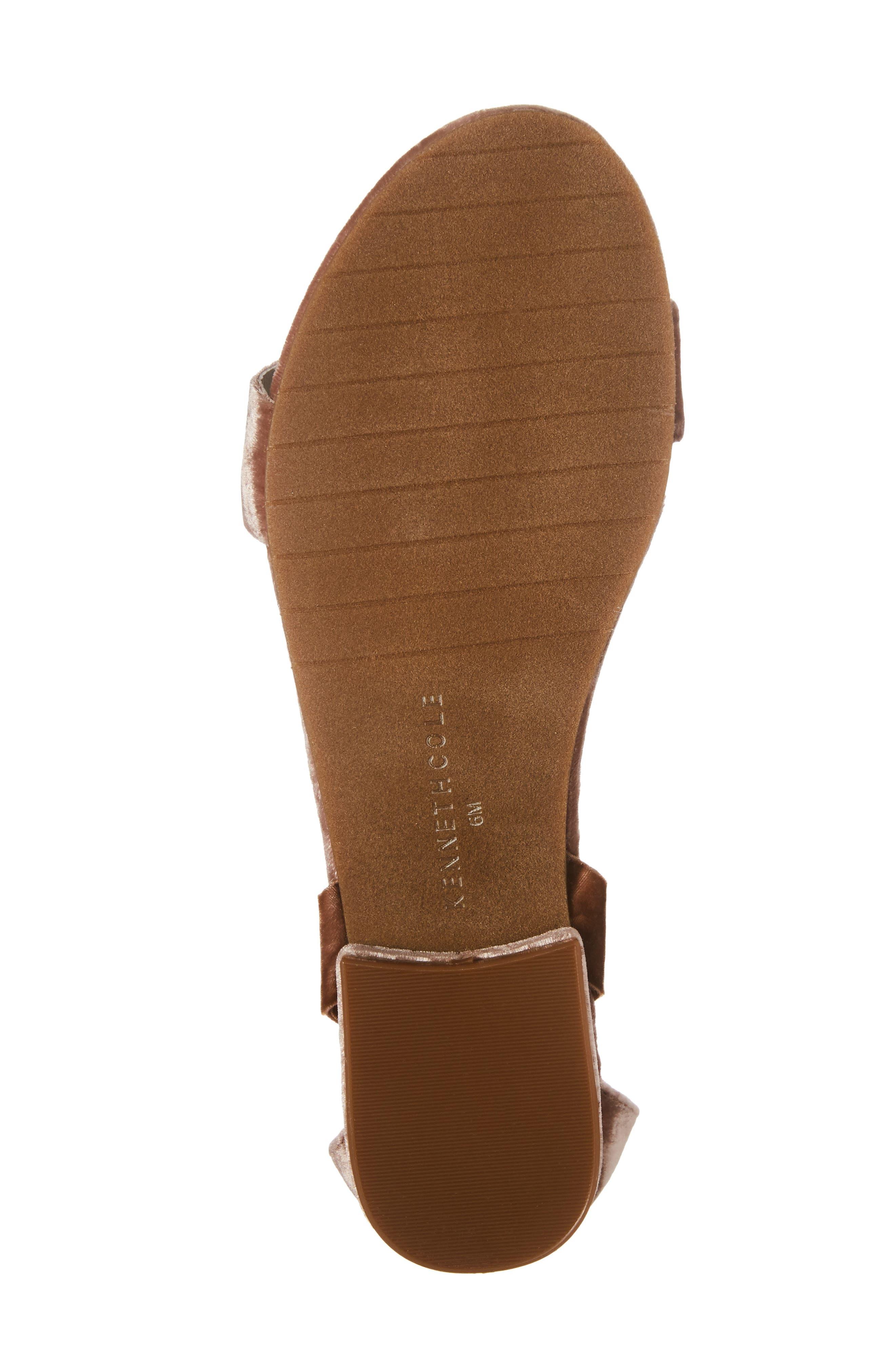 Valen Tassel Lace-Up Sandal,                             Alternate thumbnail 6, color,                             Blush Velvet