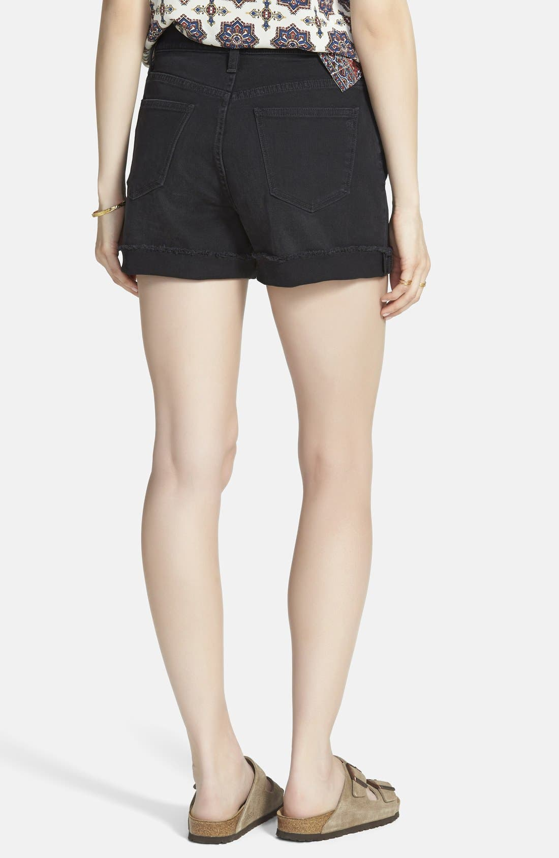 Alternate Image 2  - Madewell High Rise Denim Shorts (Washed Black)