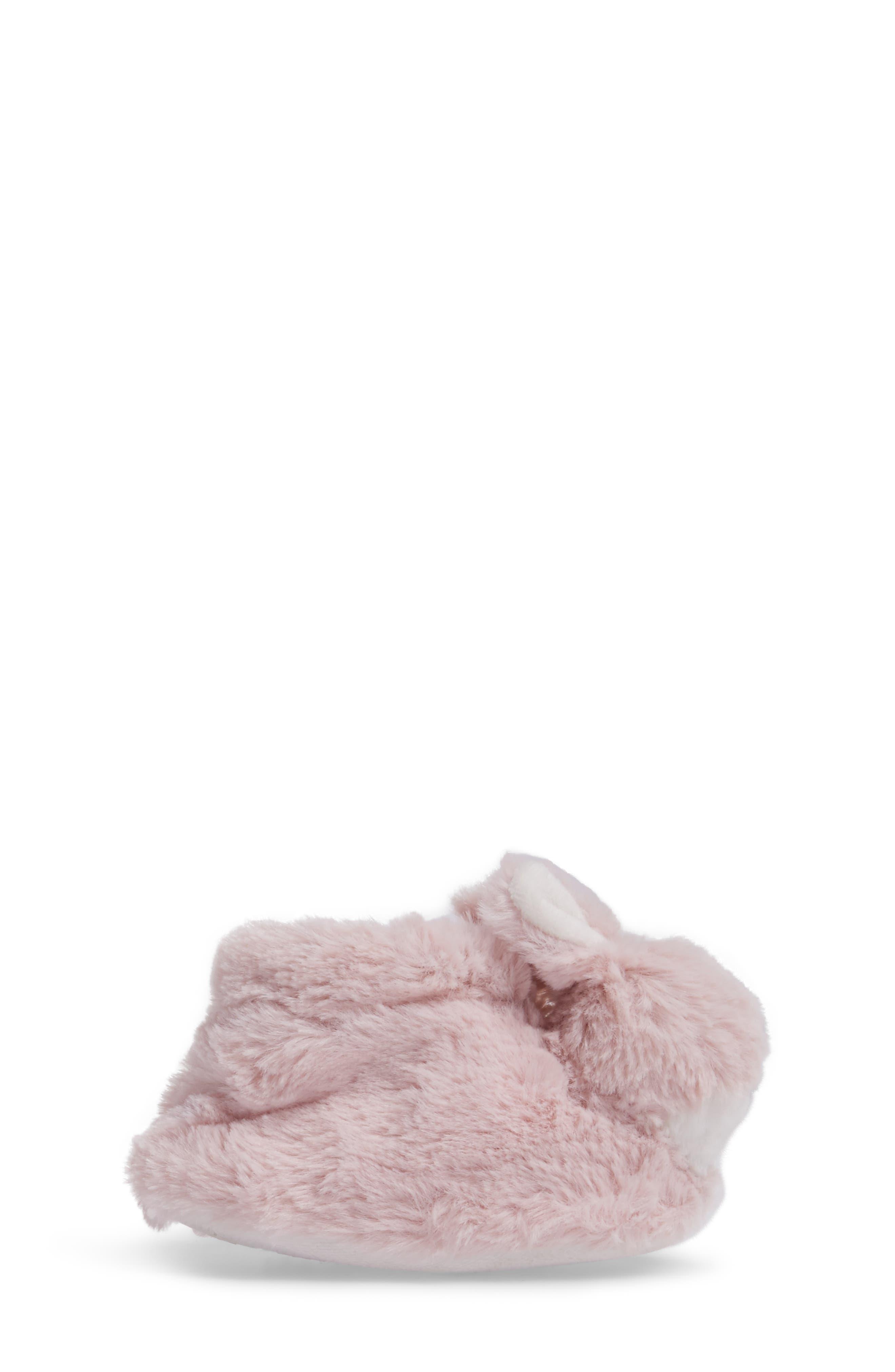 Plush Animal Slipper,                             Alternate thumbnail 3, color,                             Pink Bunny