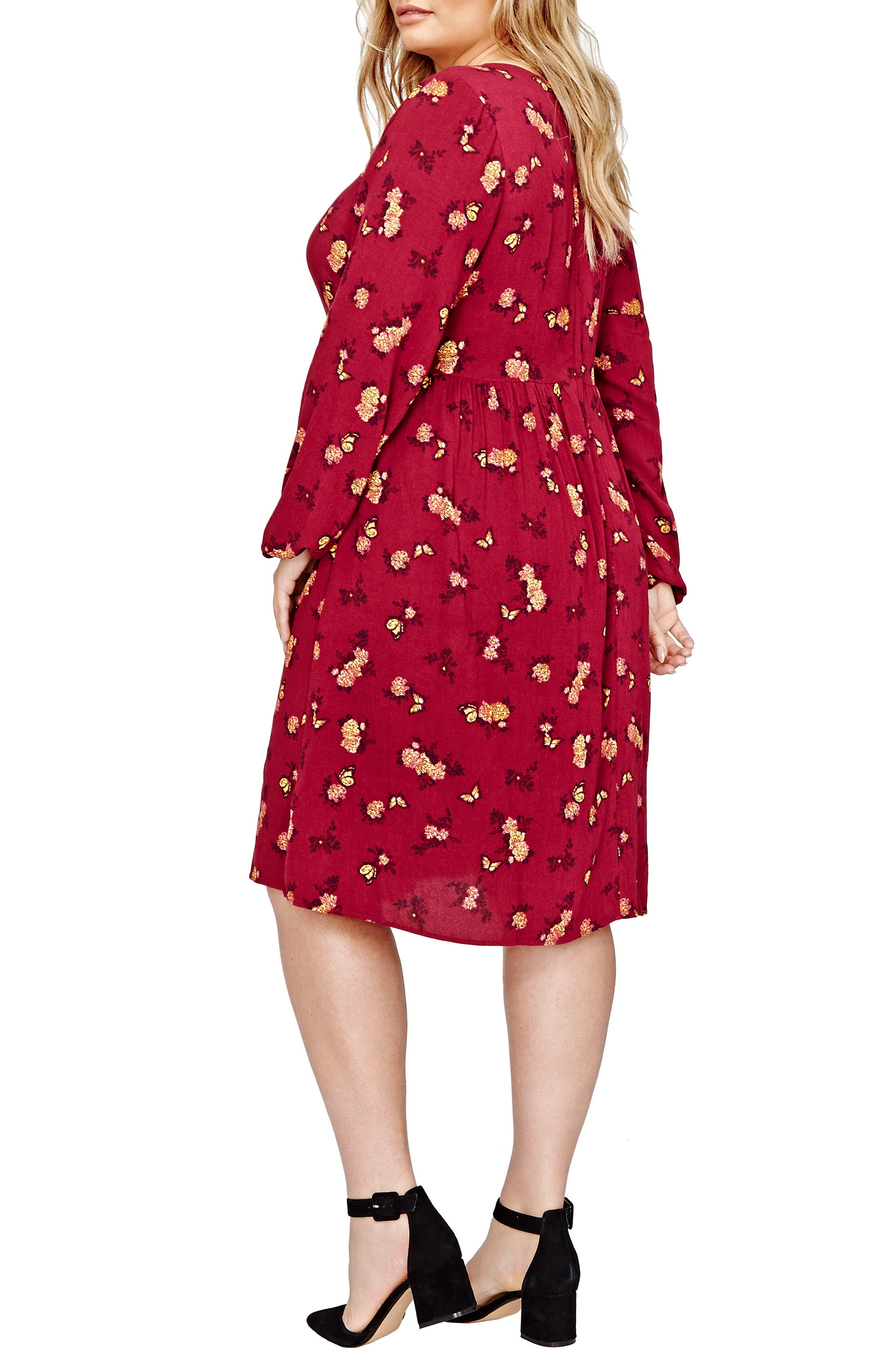 Floral Swing Dress,                             Alternate thumbnail 2, color,                             Rhododendron Floral